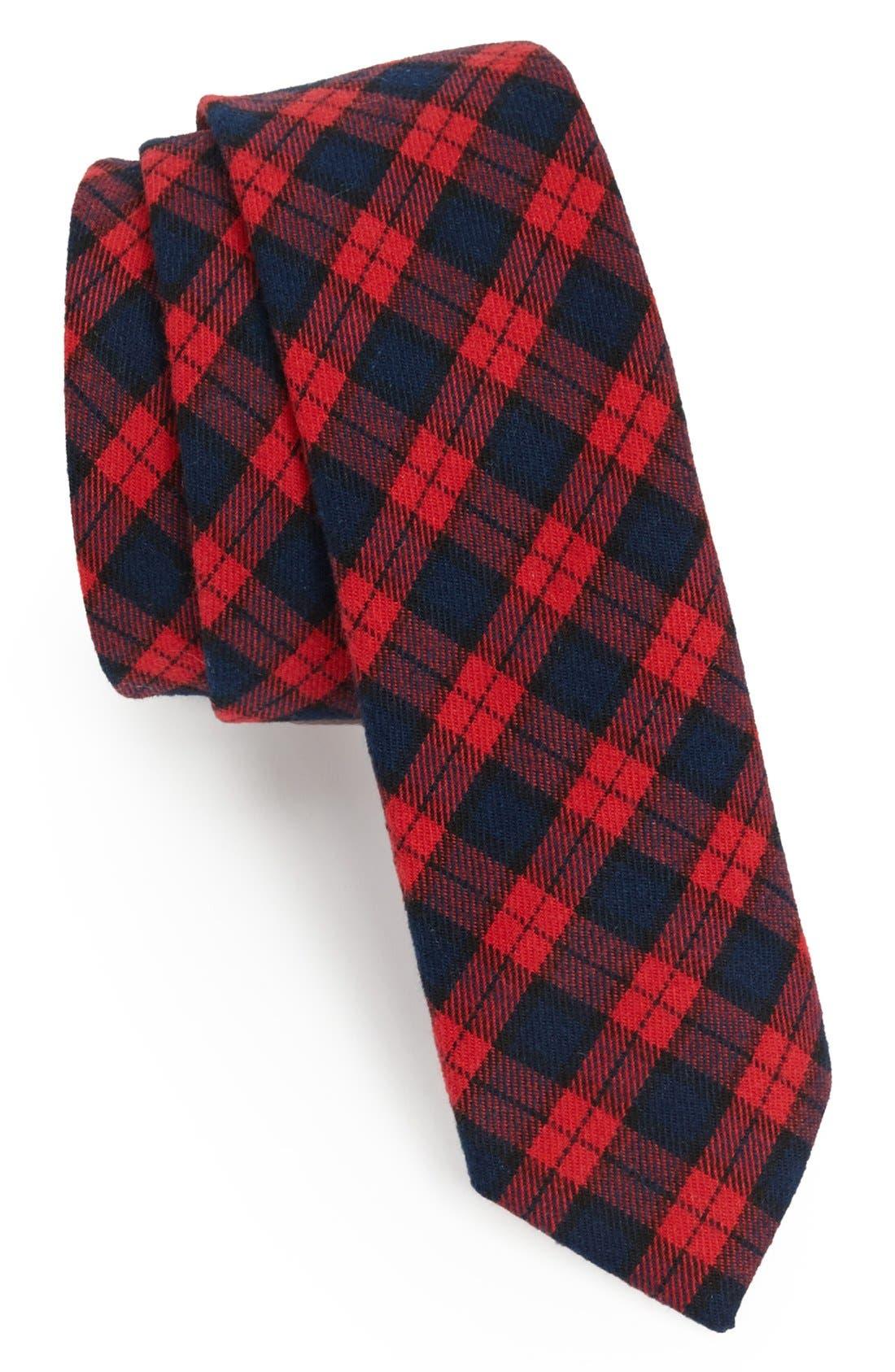 Main Image - Original Penguin 'Lars Check' Woven Cotton Tie