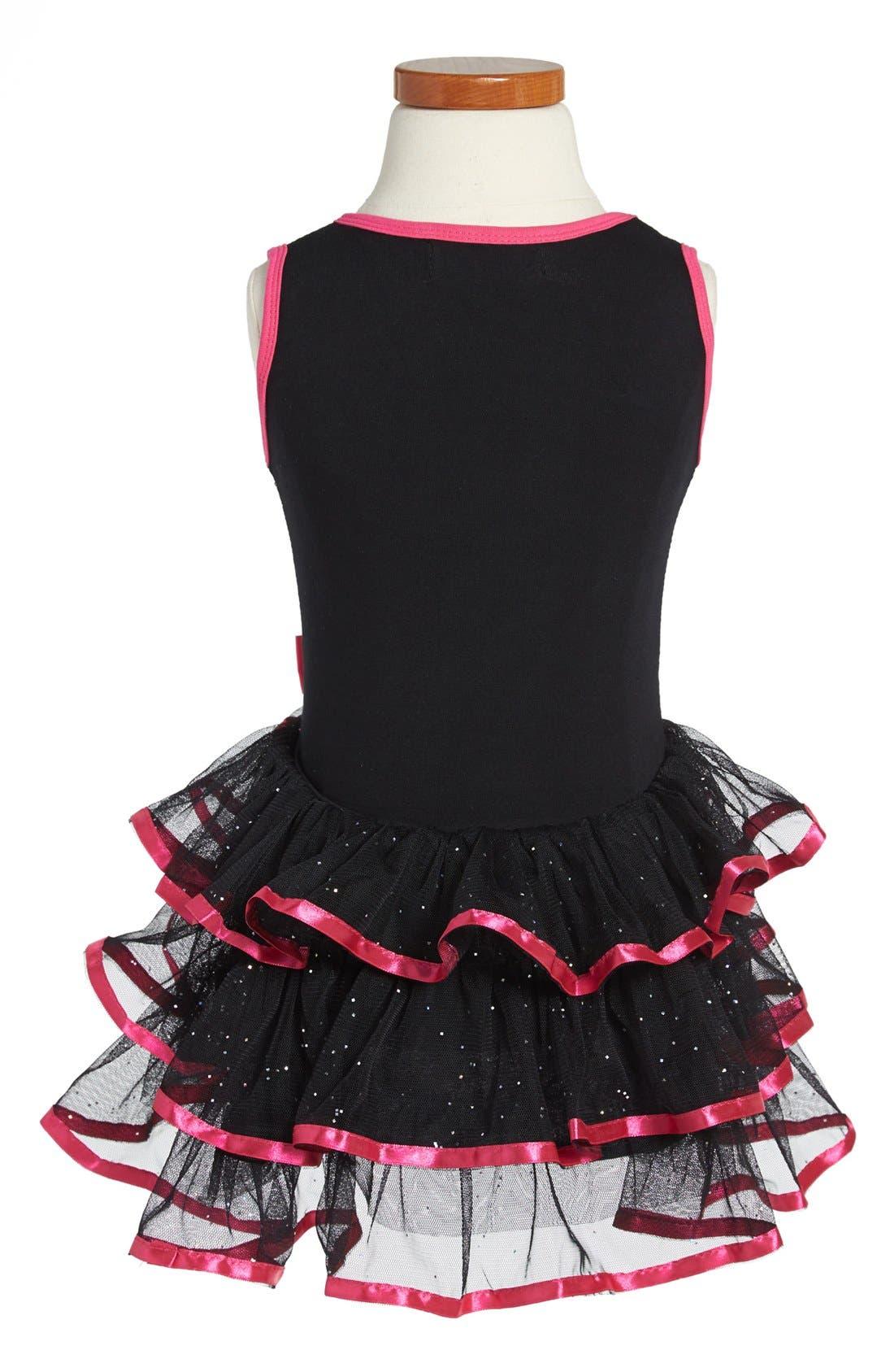 Alternate Image 2  - Popatu Sequin Tiered Skirt Dress (Toddler Girls)