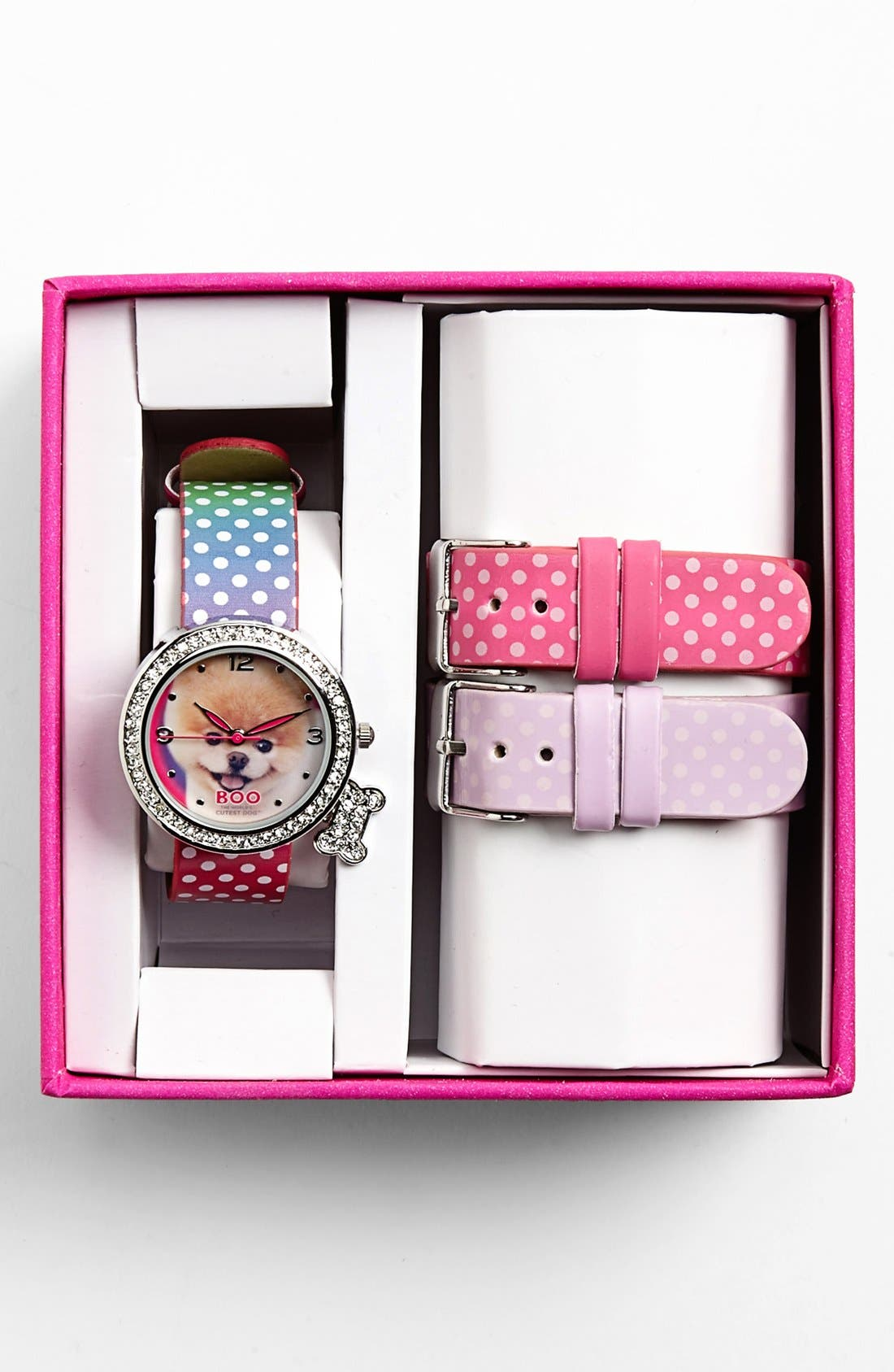 Alternate Image 2  - Accutime 'Boo - The World's Cutest Dog' Watch, 34mm (Girls)