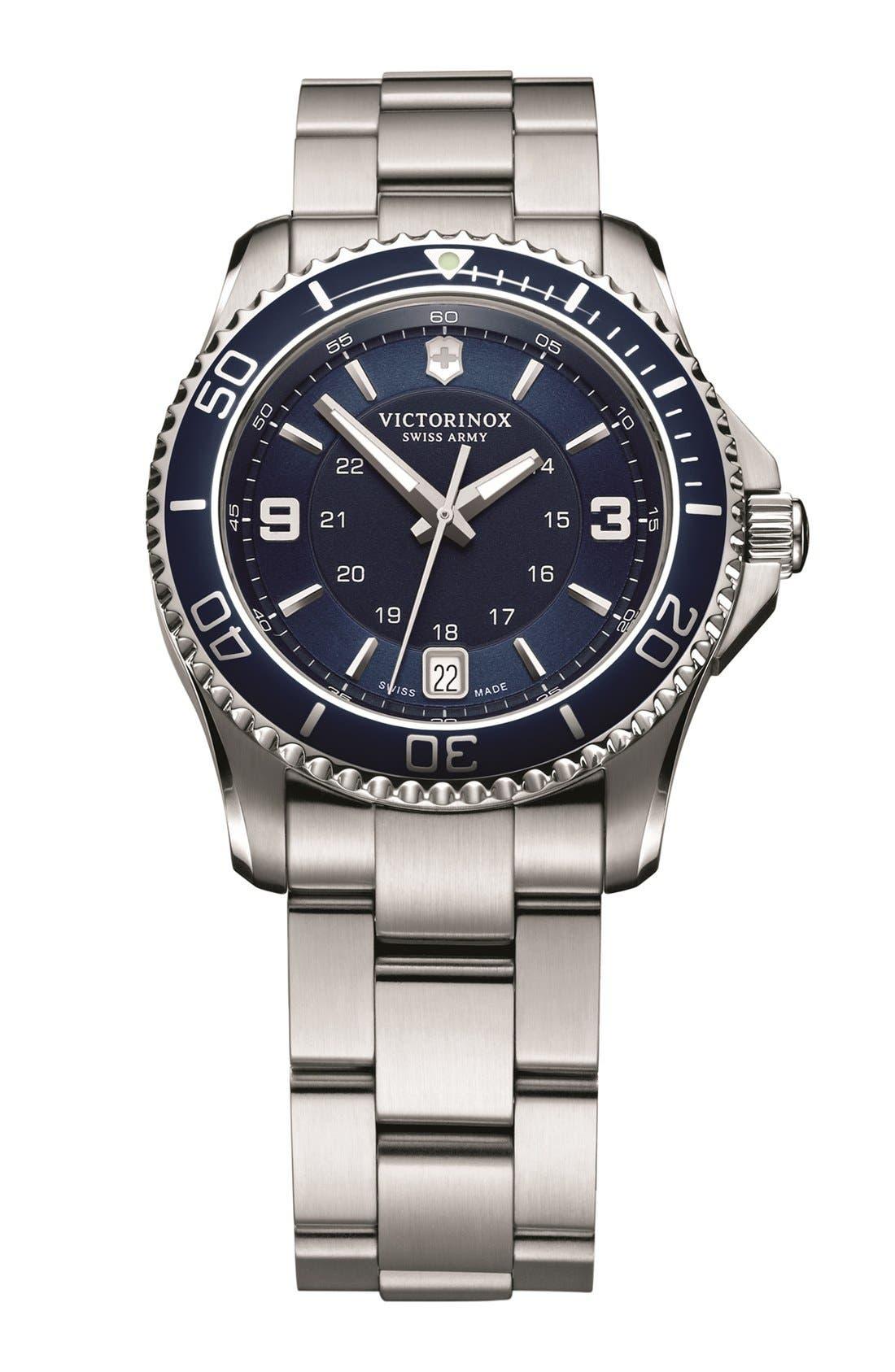Alternate Image 1 Selected - Victorinox Swiss Army® 'Maverick GS' Two Tone Bracelet Watch, 34mm