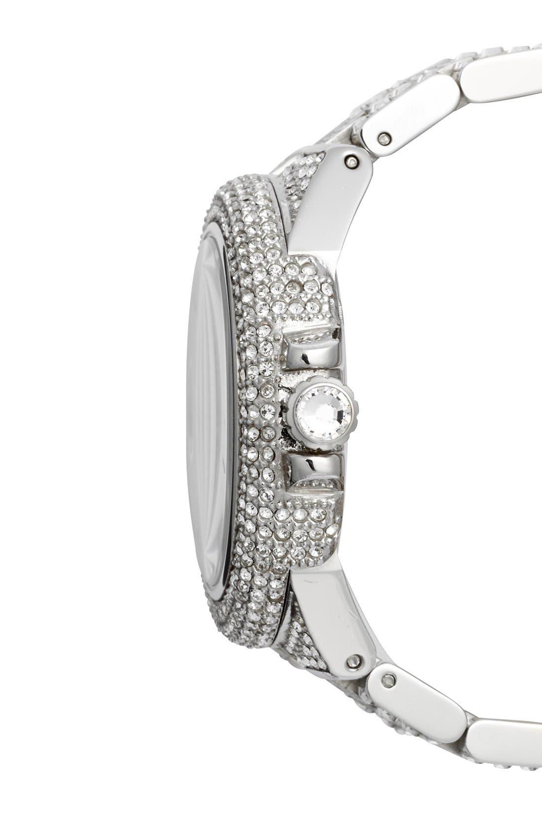 Alternate Image 2  - Michael Kors 'Camille' Crystal Encrusted Bracelet Watch, 44mm