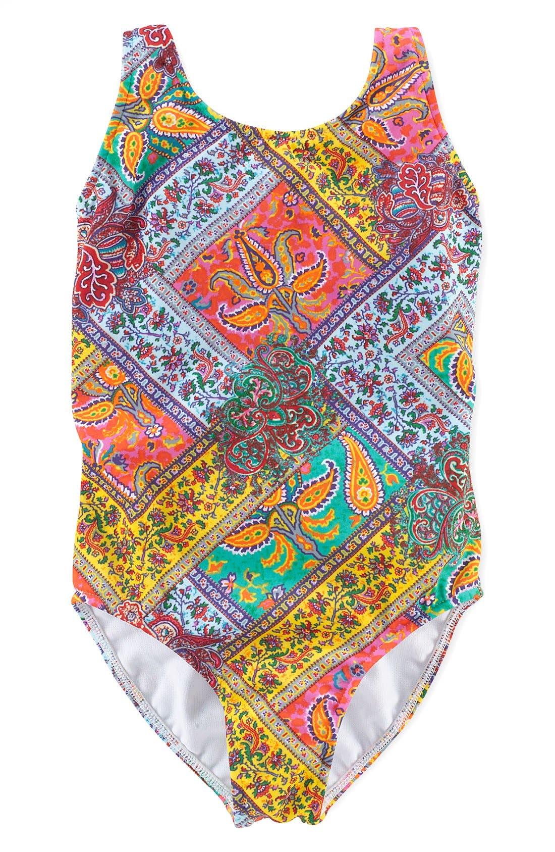 Alternate Image 1 Selected - Ralph Lauren One-Piece Swimsuit (Toddler Girls)