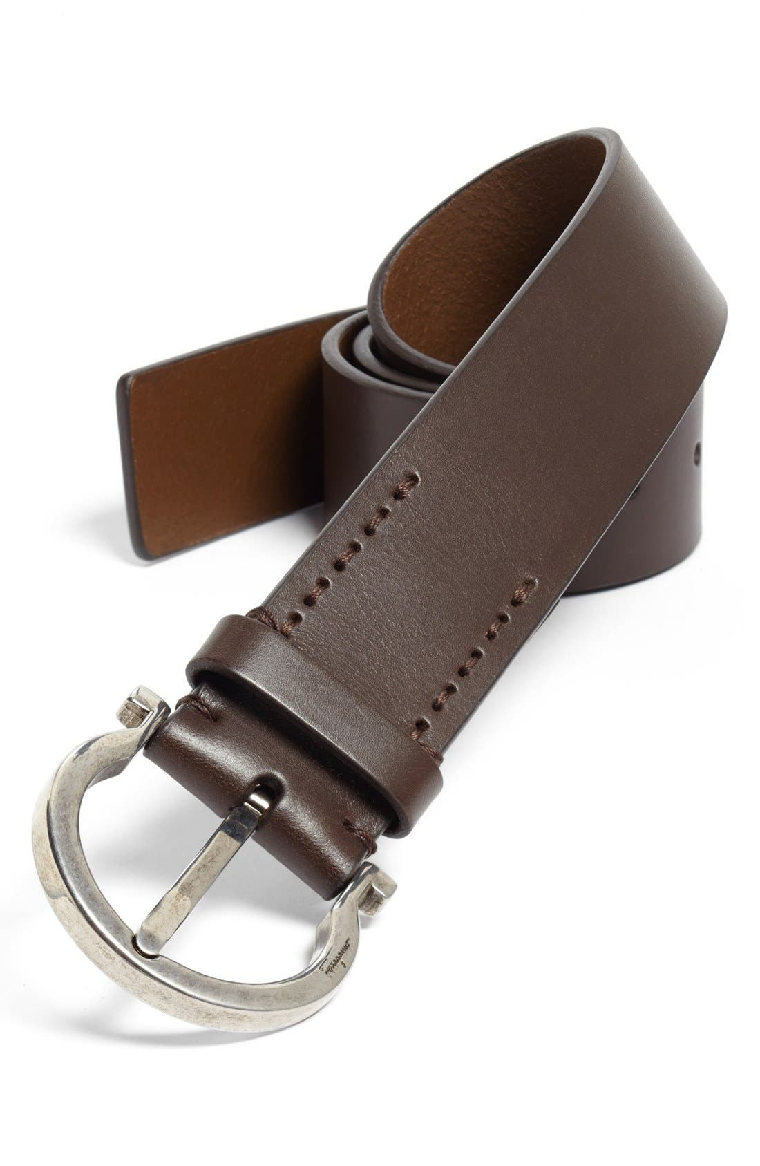 Alternate Image 1 Selected - Salvatore Ferragamo Leather Belt