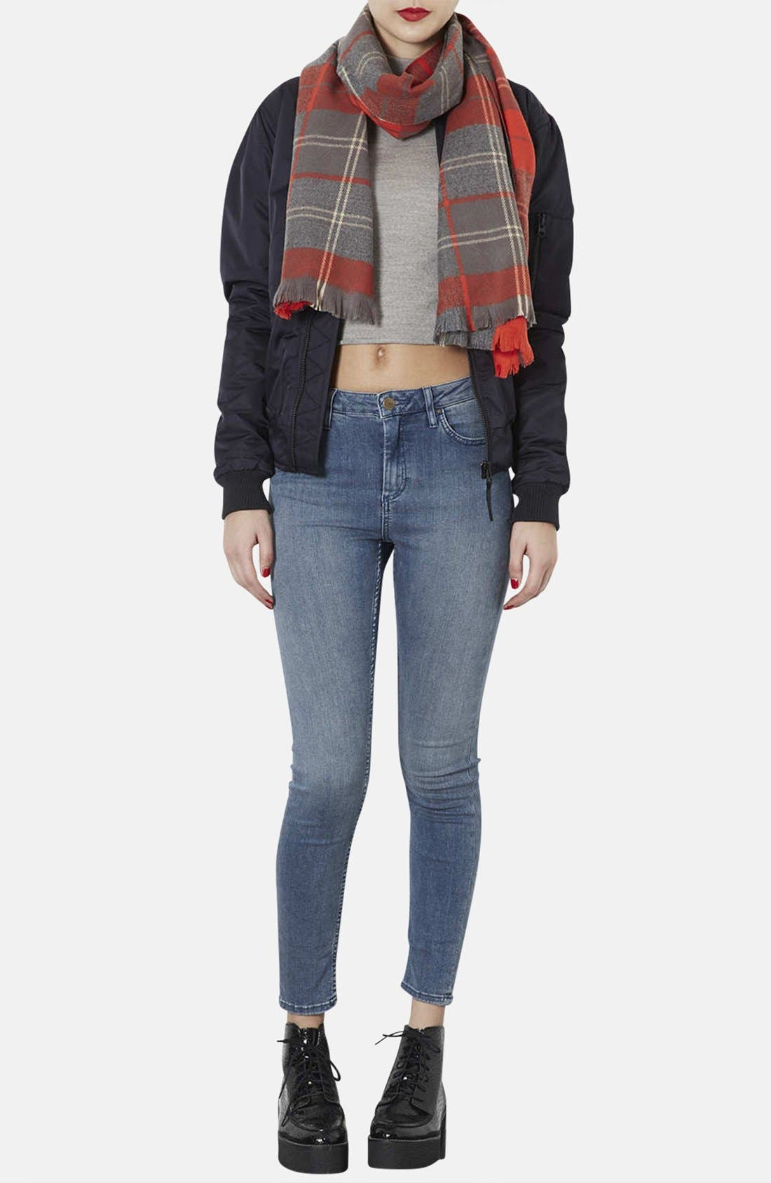 Alternate Image 2  - Topshop 'Traditional Check - Small' Scarf