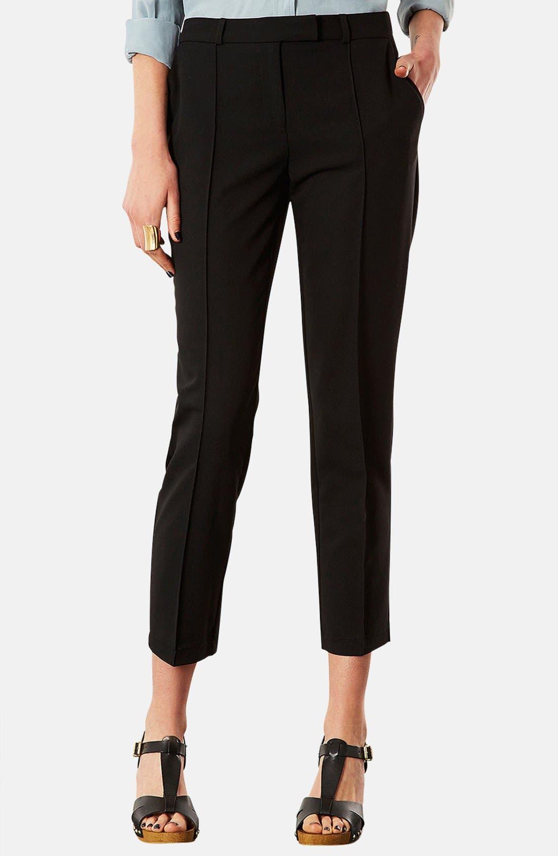 Main Image - Topshop Crop Cigarette Pants (Regular & Petite)