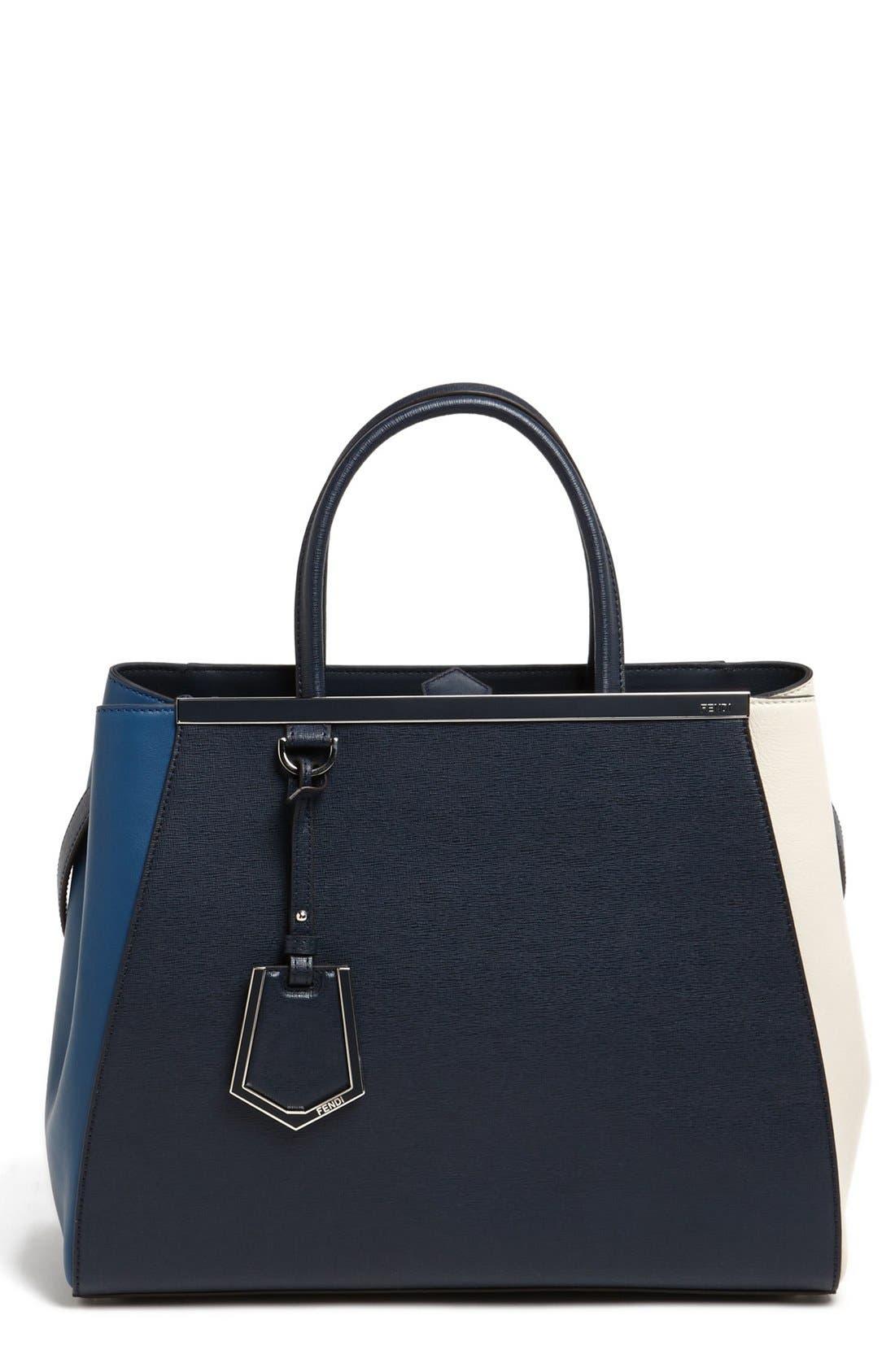 Alternate Image 1 Selected - Fendi 'Medium 2Jours Tricolor' Leather Shopper