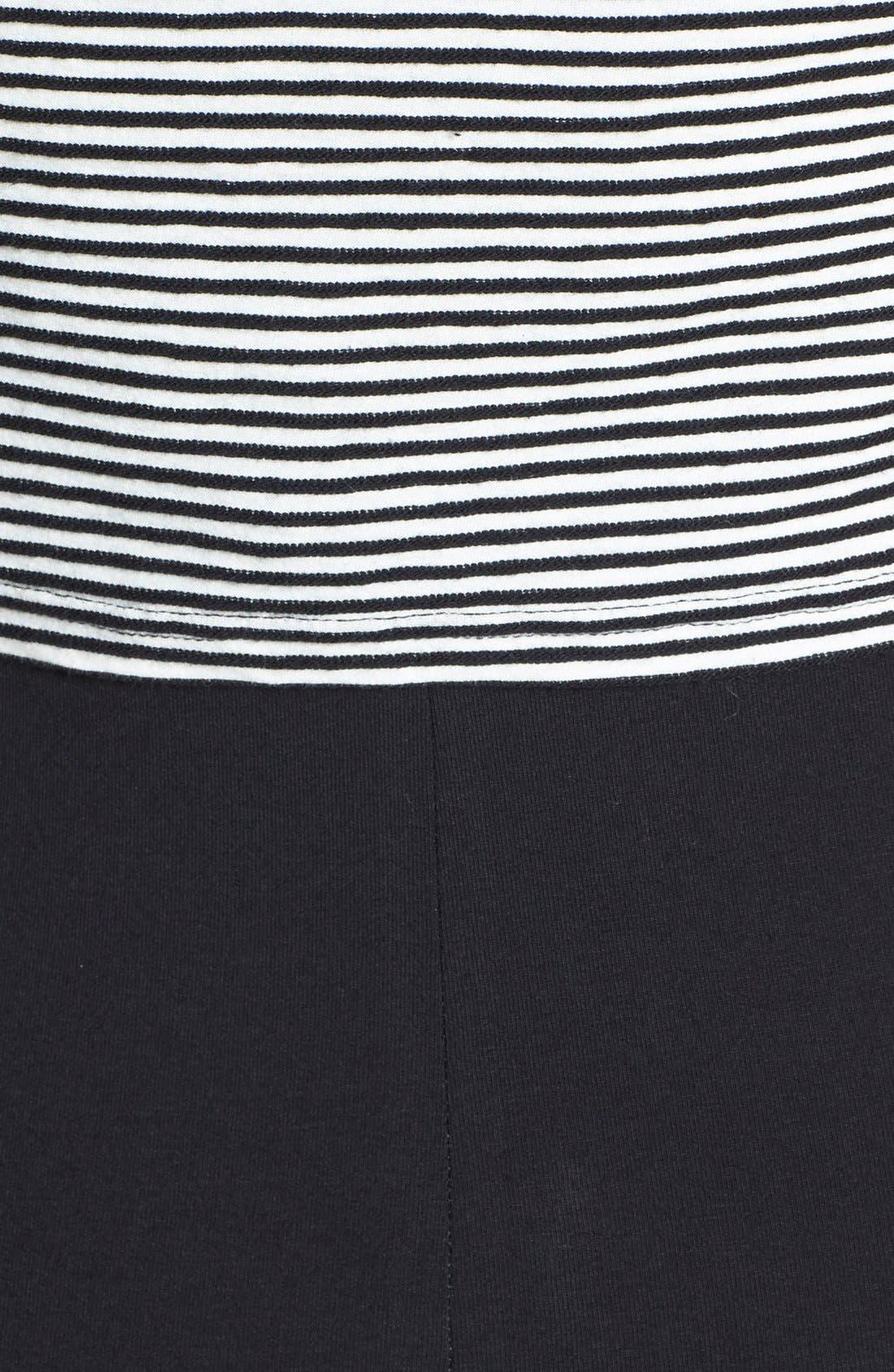 Alternate Image 3  - Topshop Stripe High Neck T-Shirt Dress