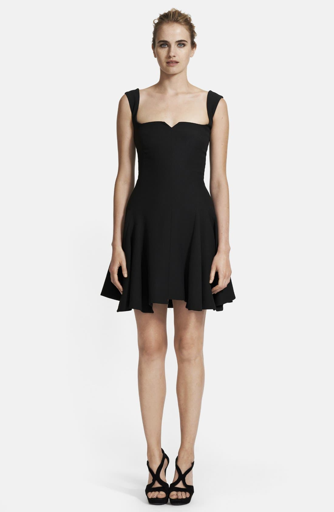 Main Image - Alexander McQueen Pleated Leaf Crepe Dress