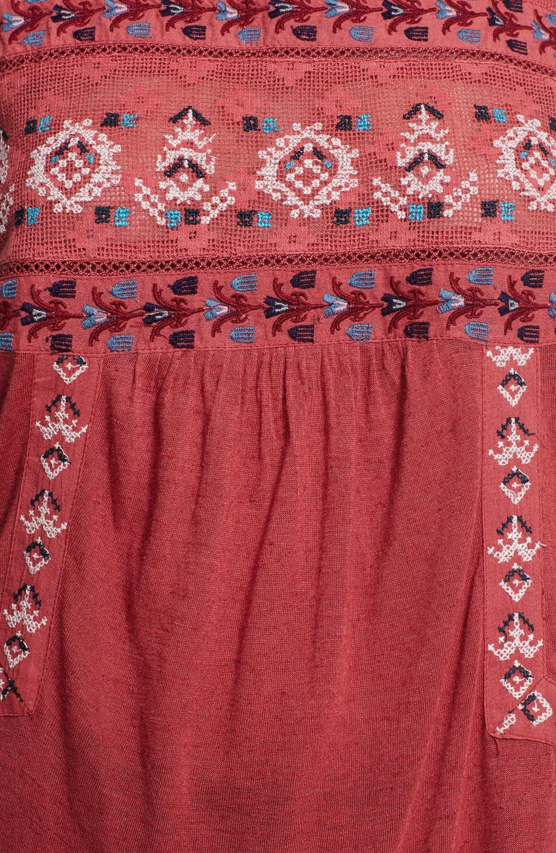 Alternate Image 3  - Free People 'Reckless Abandon' Embroidered Tunic Top