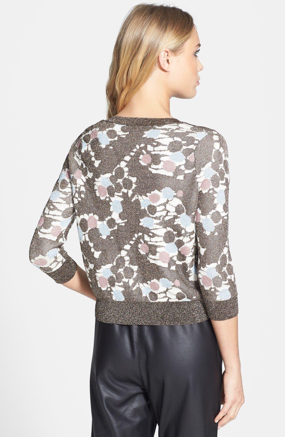 Alternate Image 2  - Topshop 'Chateau Bronze' Metallic Print Sweater
