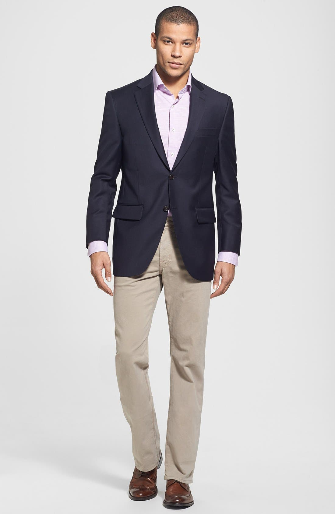 Alternate Image 7  - Peter Millar 'Flynn' Classic Fit Navy Wool Blazer