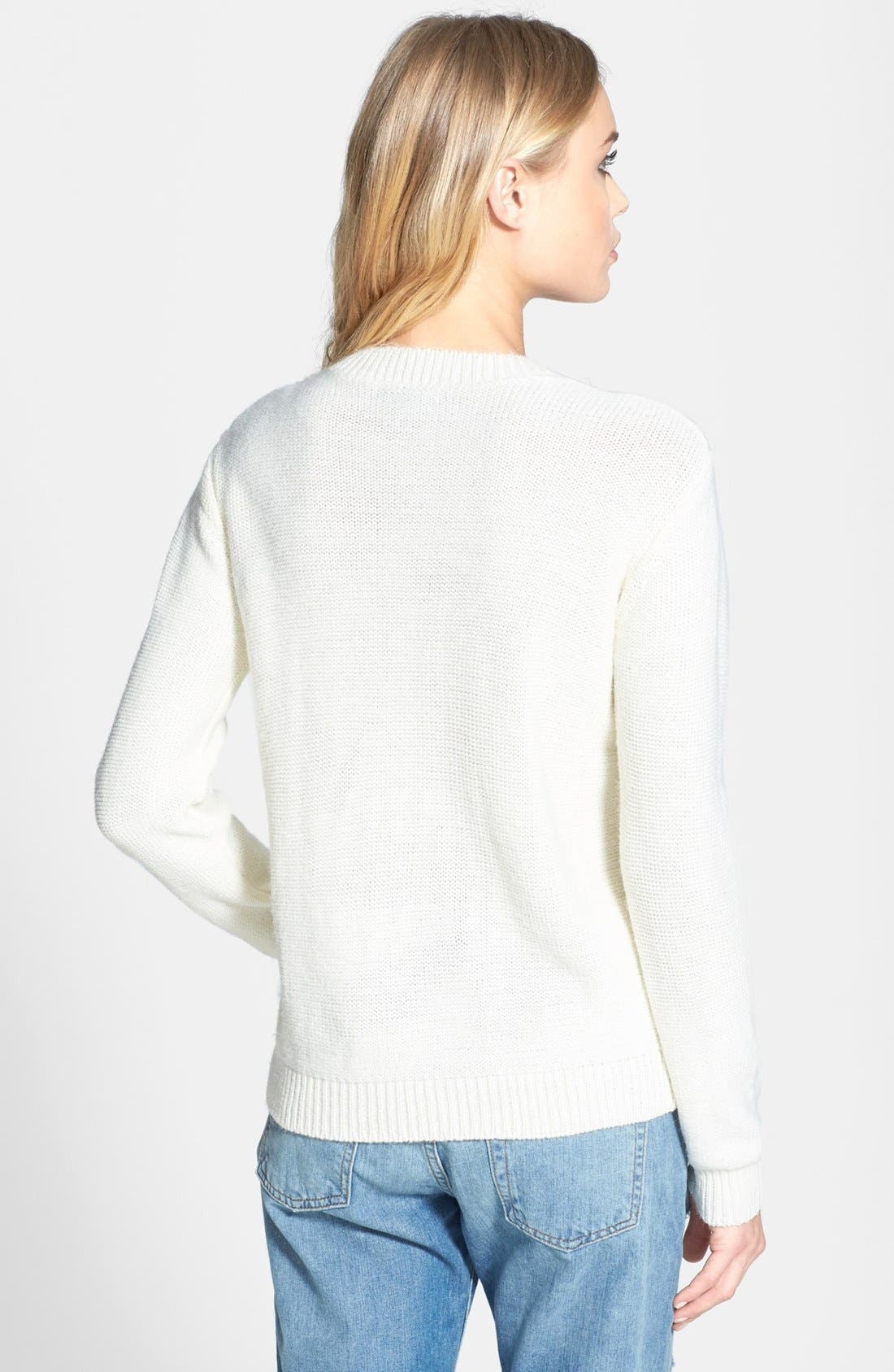 Alternate Image 2  - Topshop Loop Stitch Sweater