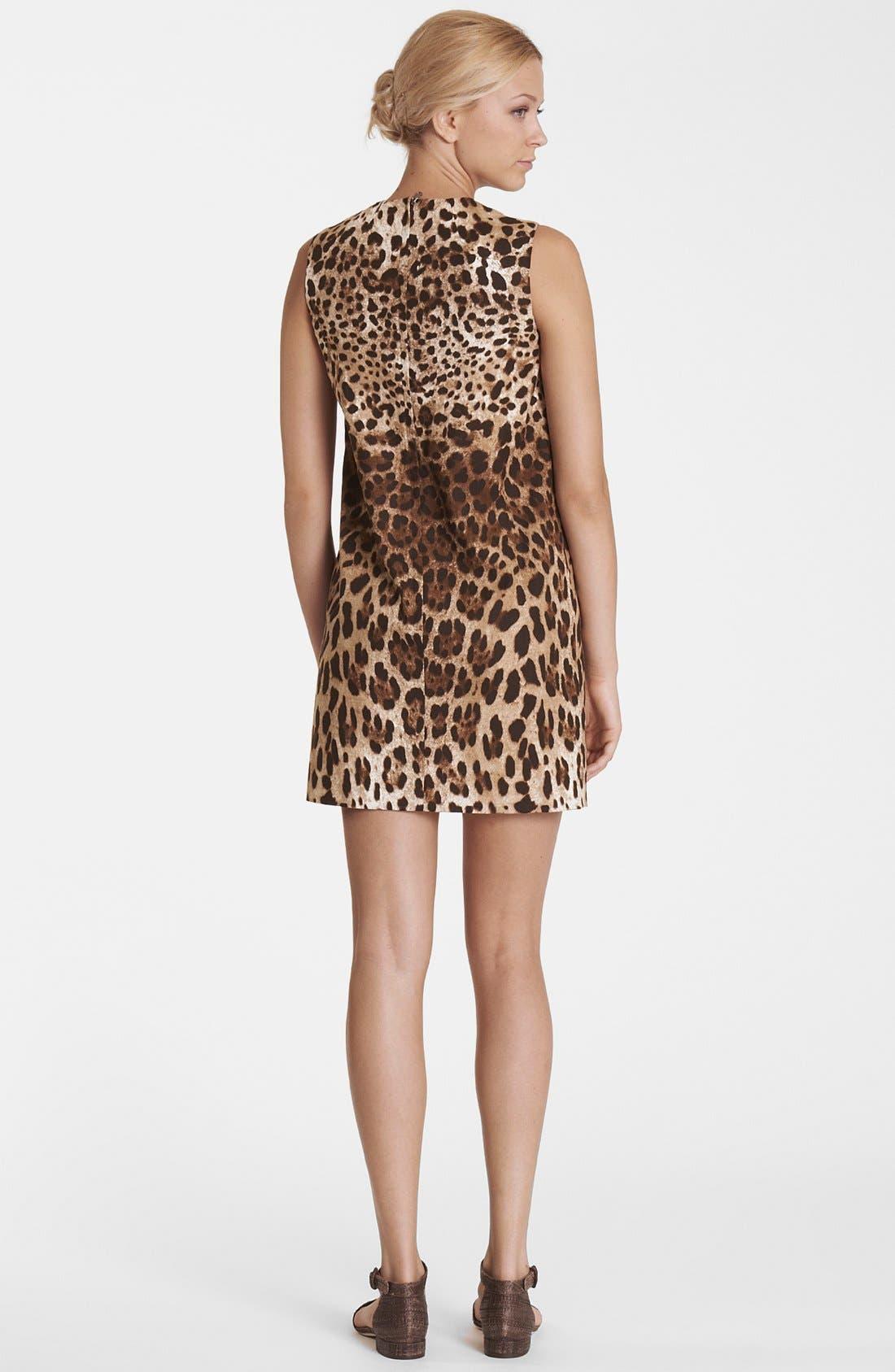Alternate Image 2  - Dolce&Gabbana Leopard Print Shift Dress