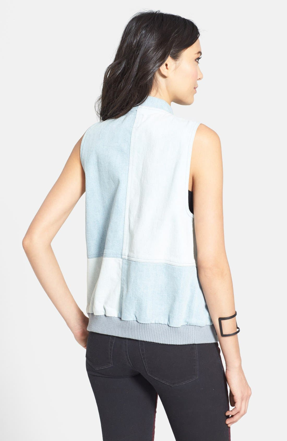Alternate Image 2  - Leith Patchwork Denim Vest