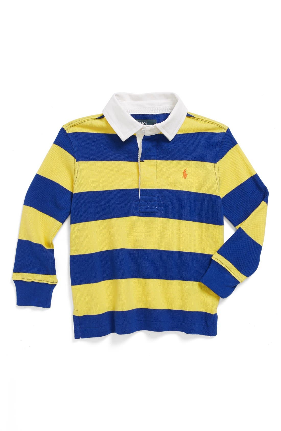 Alternate Image 1 Selected - Ralph Lauren Rugby Stripe Polo (Toddler Boys)