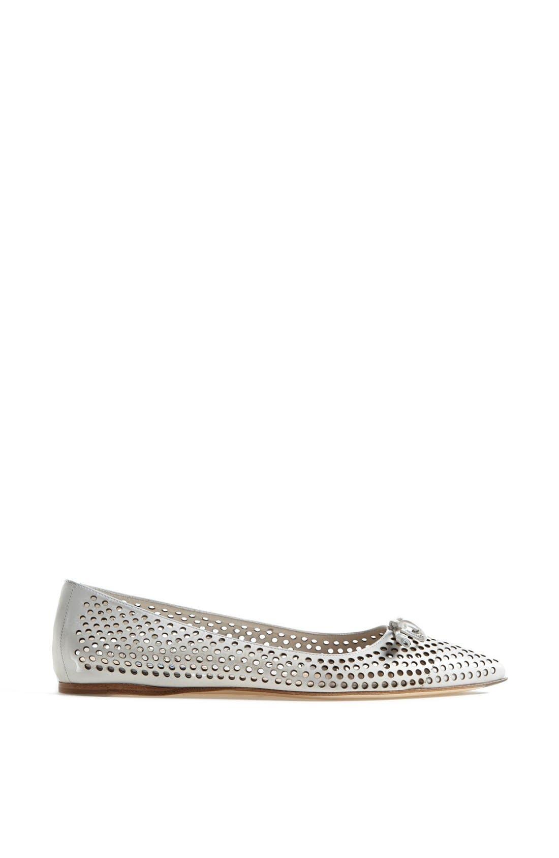 Alternate Image 4  - Prada Pointed Toe Perforated Ballet Flat