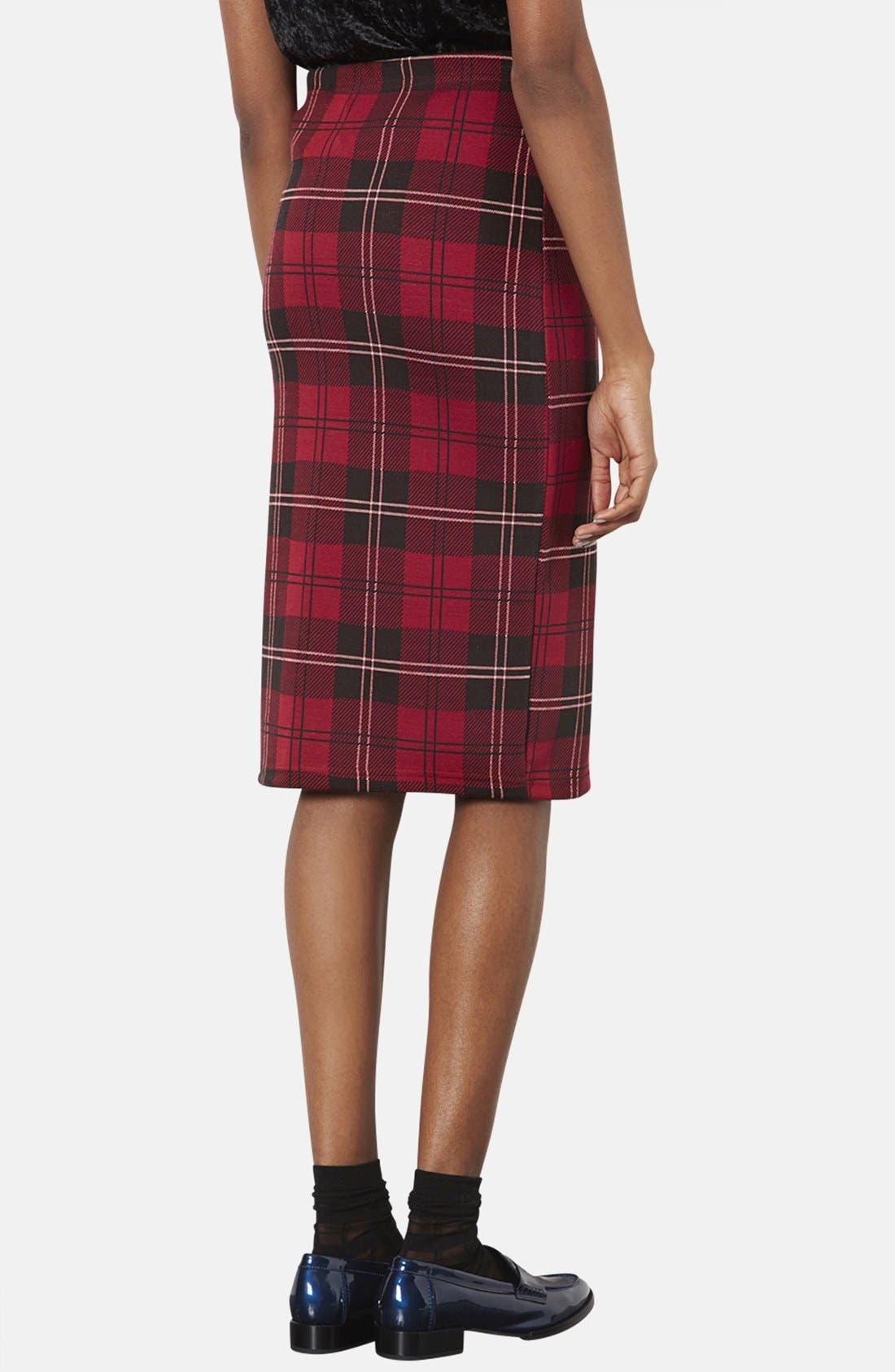 Alternate Image 2  - Topshop Plaid Tube Skirt