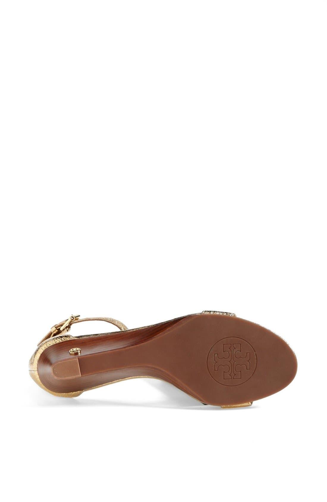 'Savannah' Wedge Sandal,                             Alternate thumbnail 3, color,                             Gold