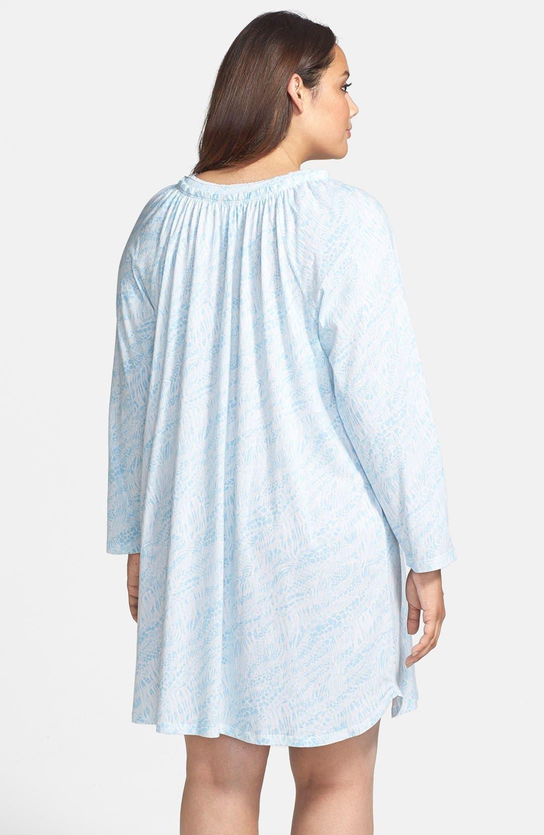 Alternate Image 2  - Carole Hochman Designs 'Wistful Rosebud' Sleep Shirt (Plus Size)