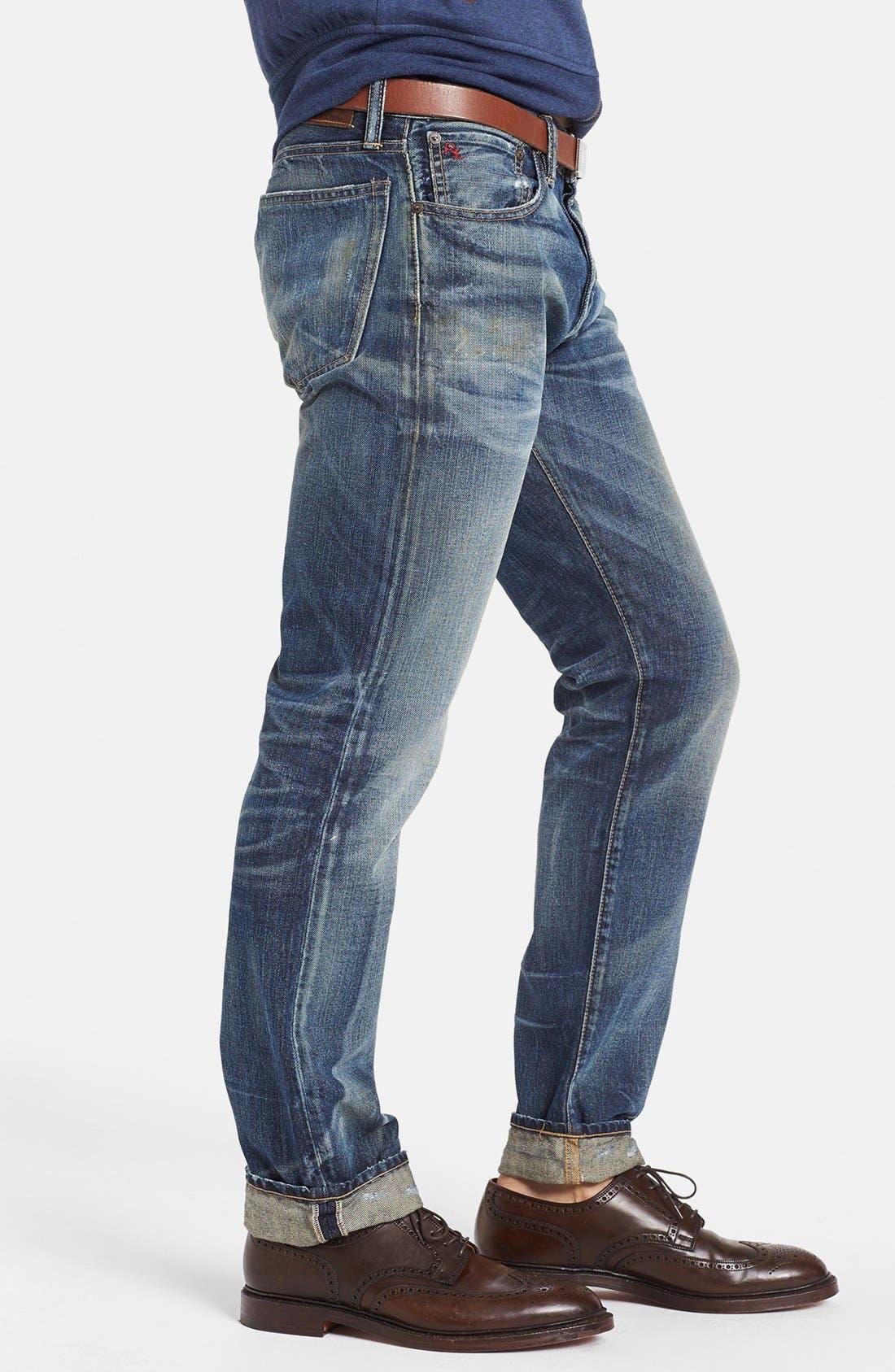 Alternate Image 4  - Polo Ralph Lauren Slim Fit Jeans (Linden Rinse)