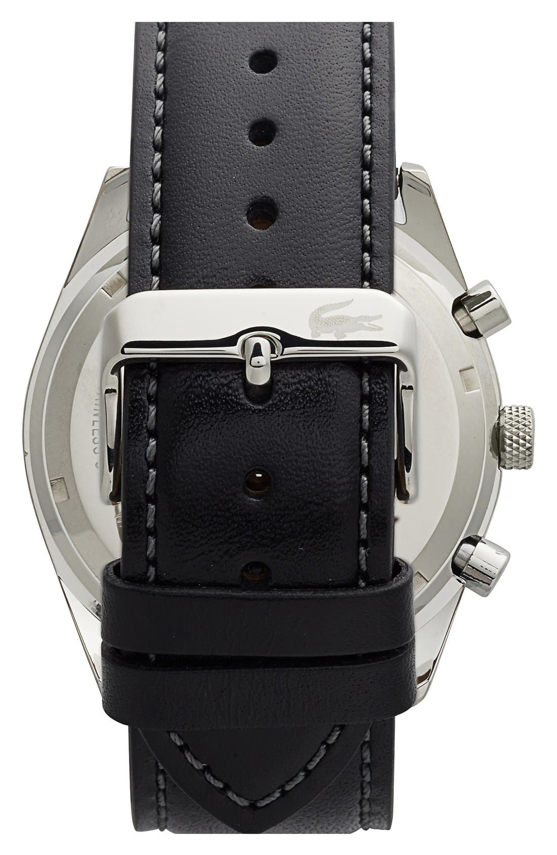 'Austin' Chronograph Leather Strap Watch, 44mm,                             Alternate thumbnail 2, color,                             Black/ Navy
