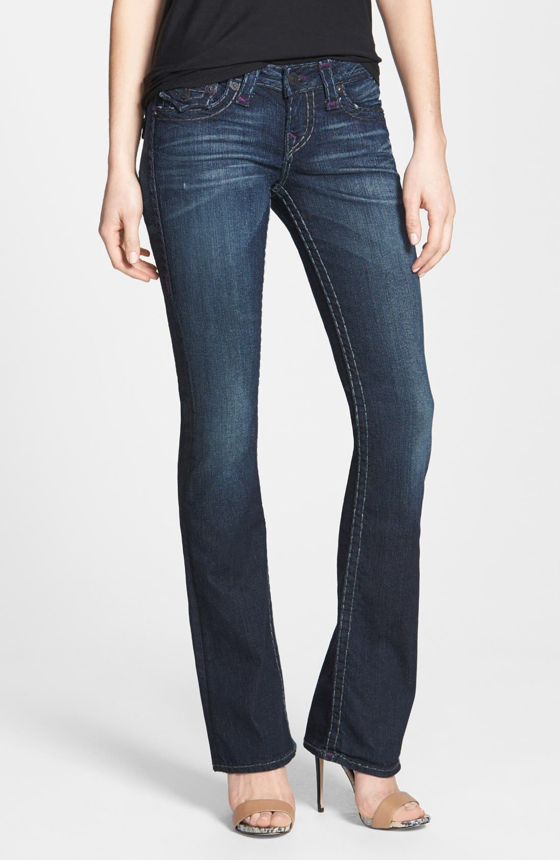 Main Image - True Religion Brand Jeans 'Becky' Bootcut Jeans (Blue Water)