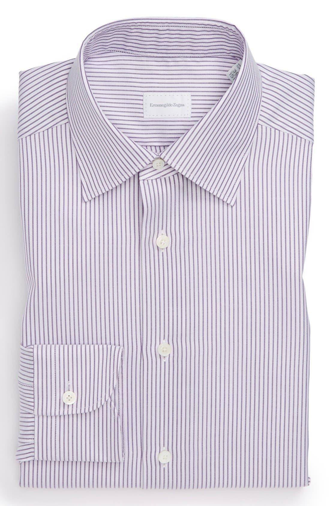 Classic Fit Dress Shirt,                             Main thumbnail 1, color,                             Lavender