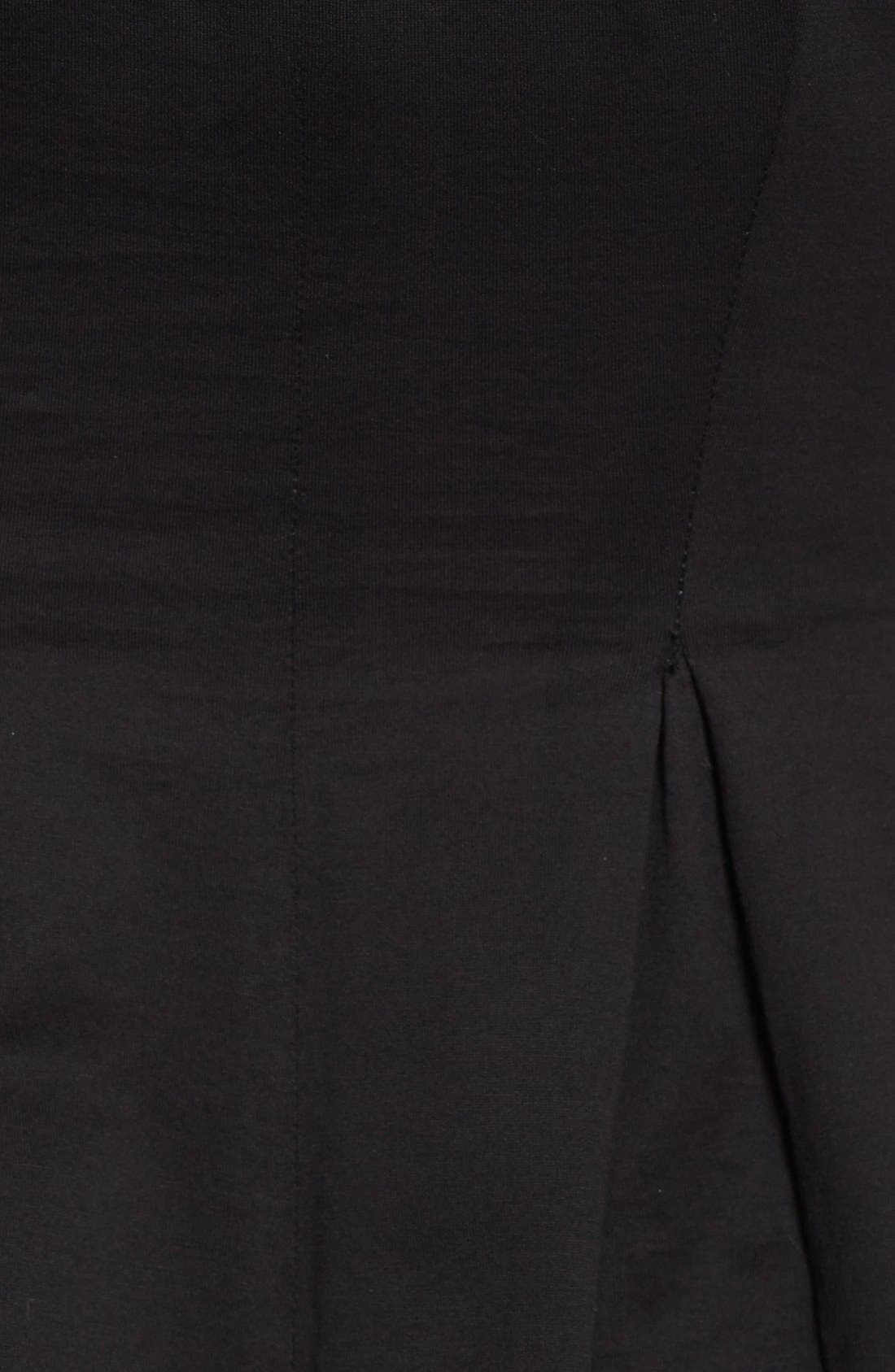 Alternate Image 3  - Rebecca Taylor Short Sleeve Peplum Jersey Top