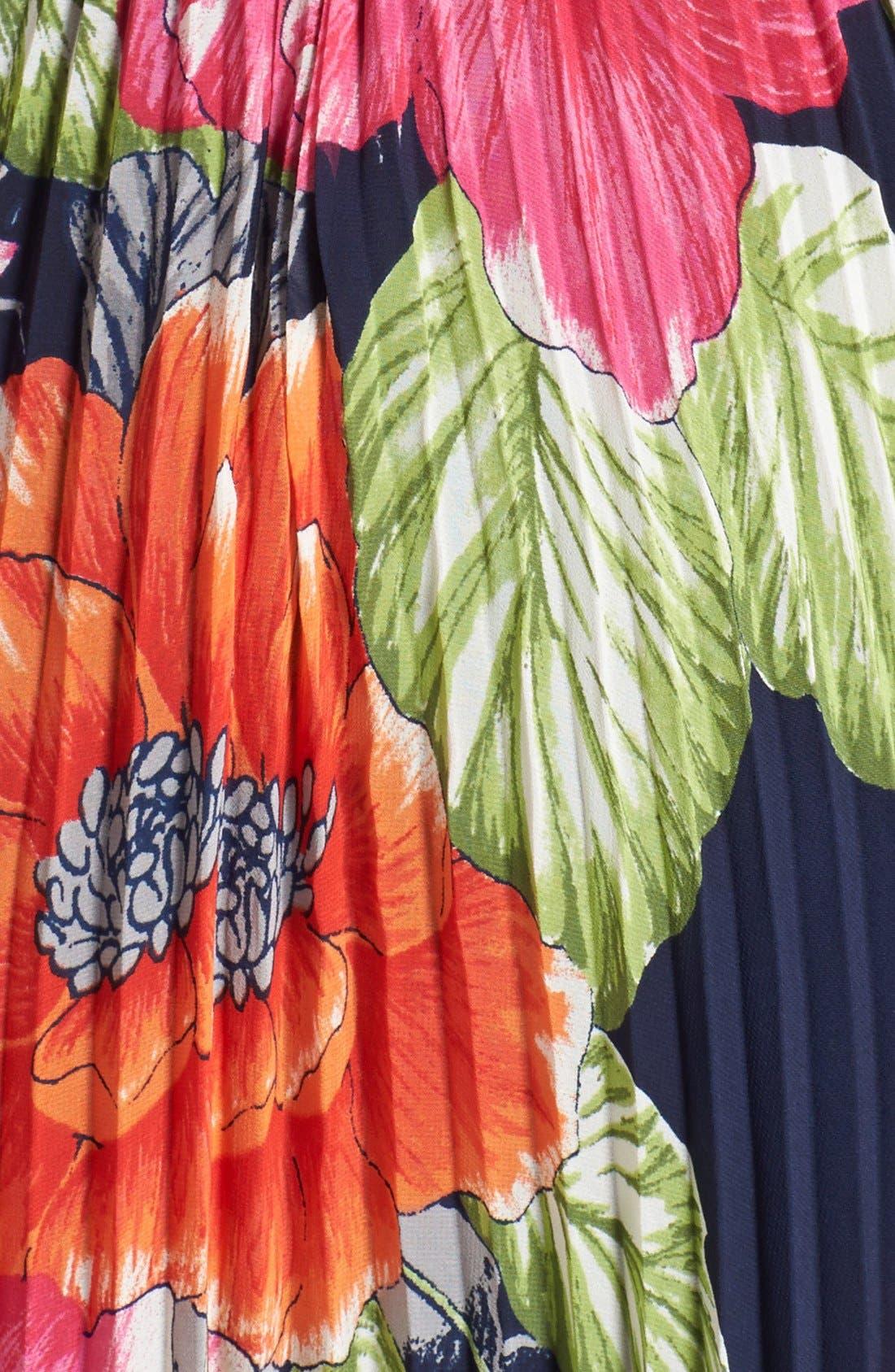 Alternate Image 3  - Eliza J Pleated Chiffon Maxi Dress