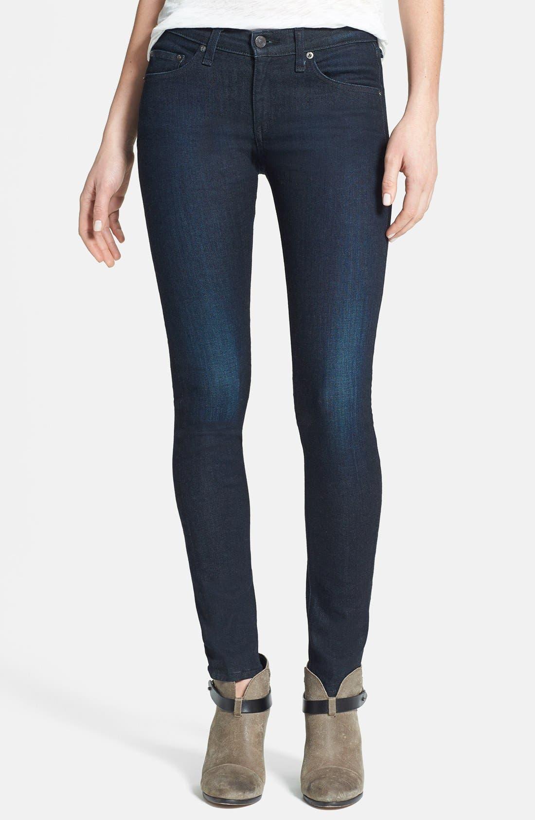 Alternate Image 1 Selected - rag & bone/JEAN Skinny Stretch Jeans (Heritage)