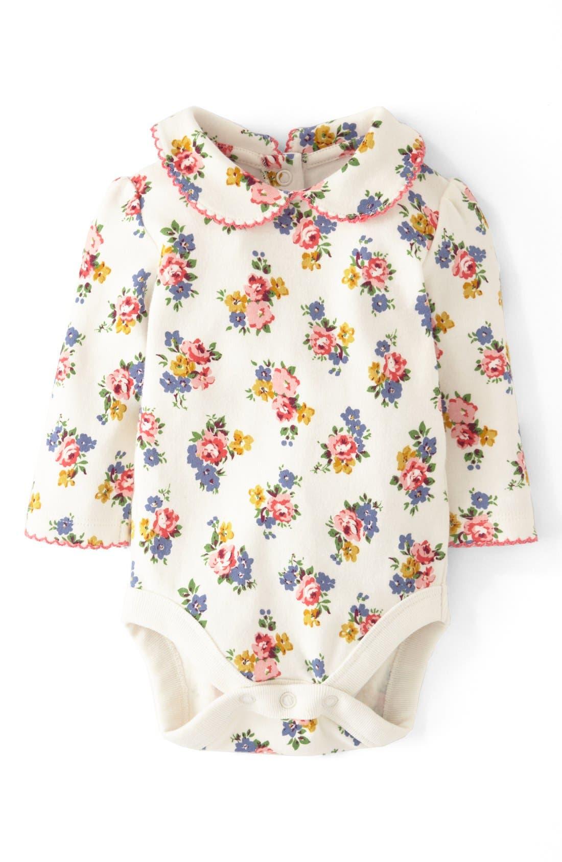 Alternate Image 1 Selected - Mini Boden 'Pretty Collar' Bodysuit (Baby Girls)