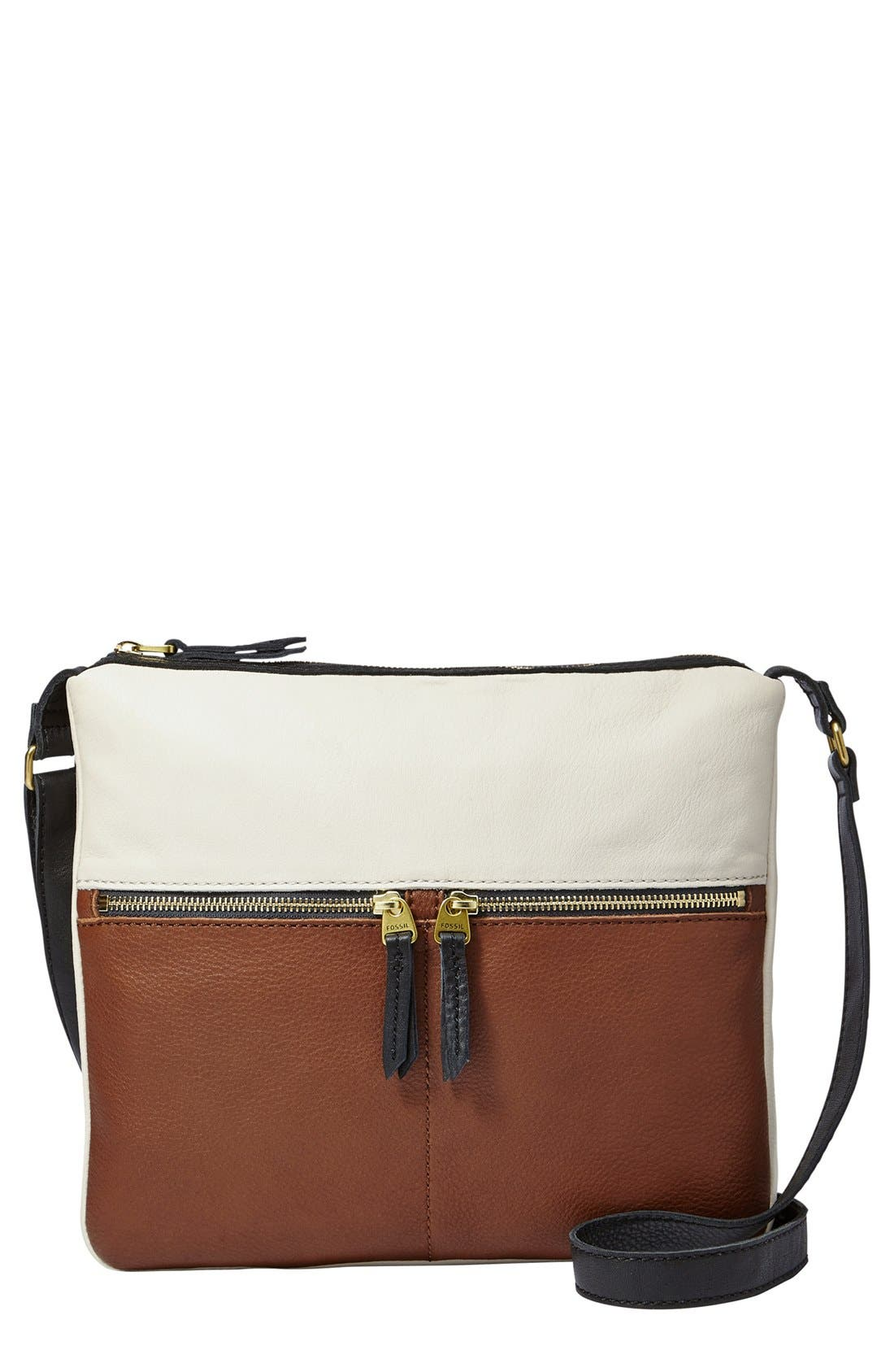 Alternate Image 1 Selected - Fossil 'Erin' Colorblock Crossbody Bag