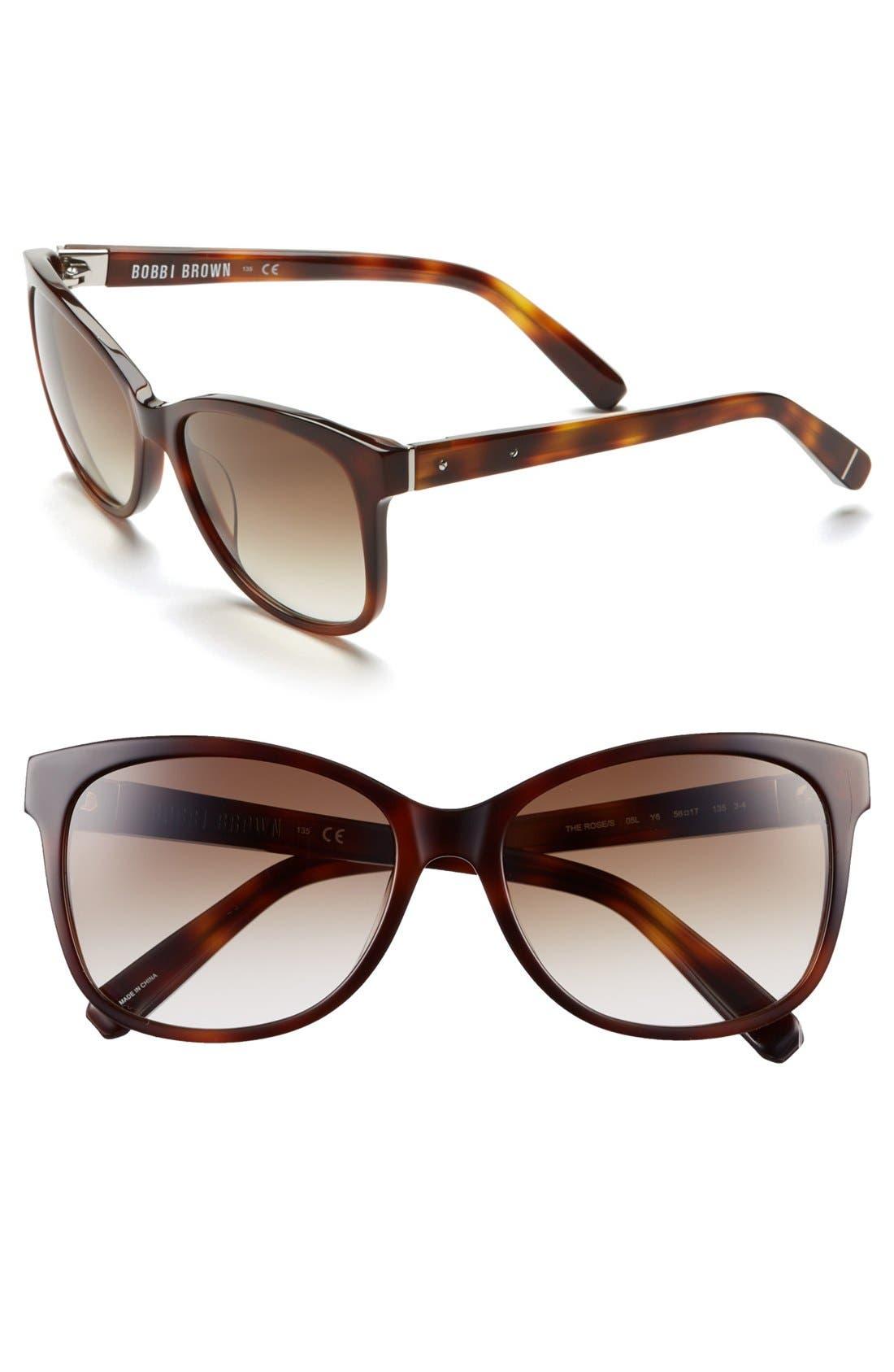 Alternate Image 1 Selected - Bobbi Brown 'The Rose' 56mm Sunglasses