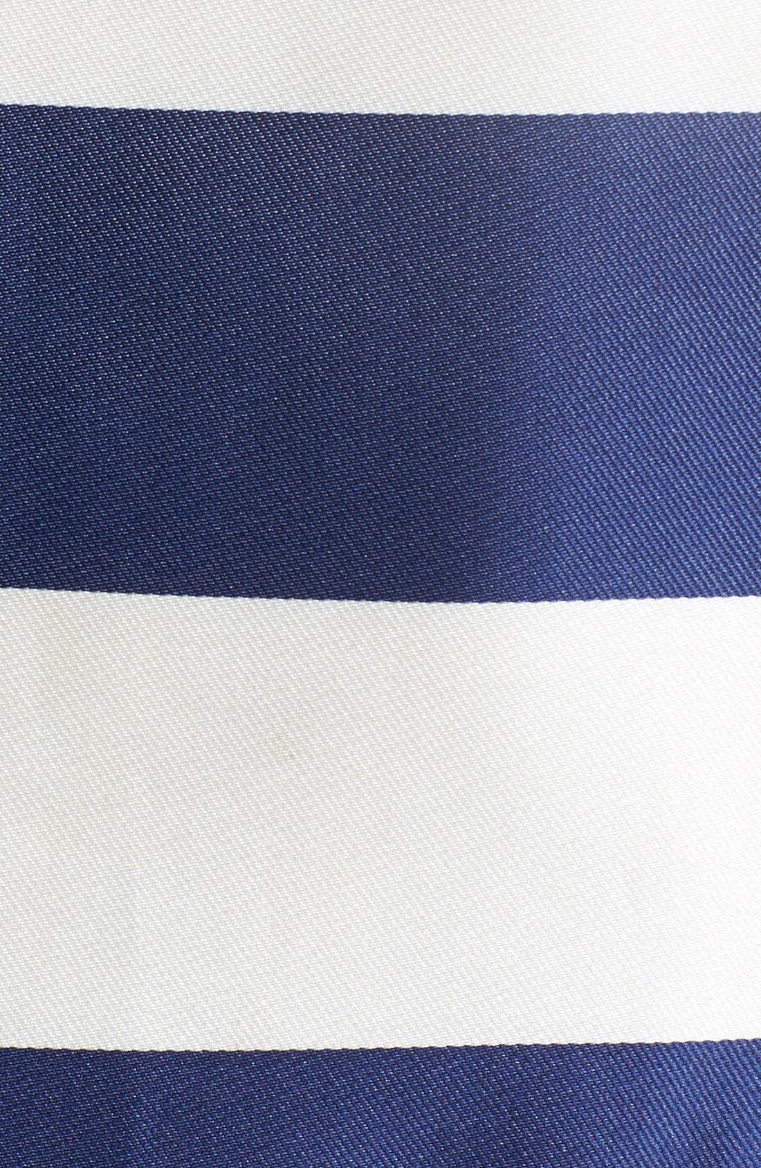 Alternate Image 4  - Donna Ricco Belted Stripe Matte Satin Dress