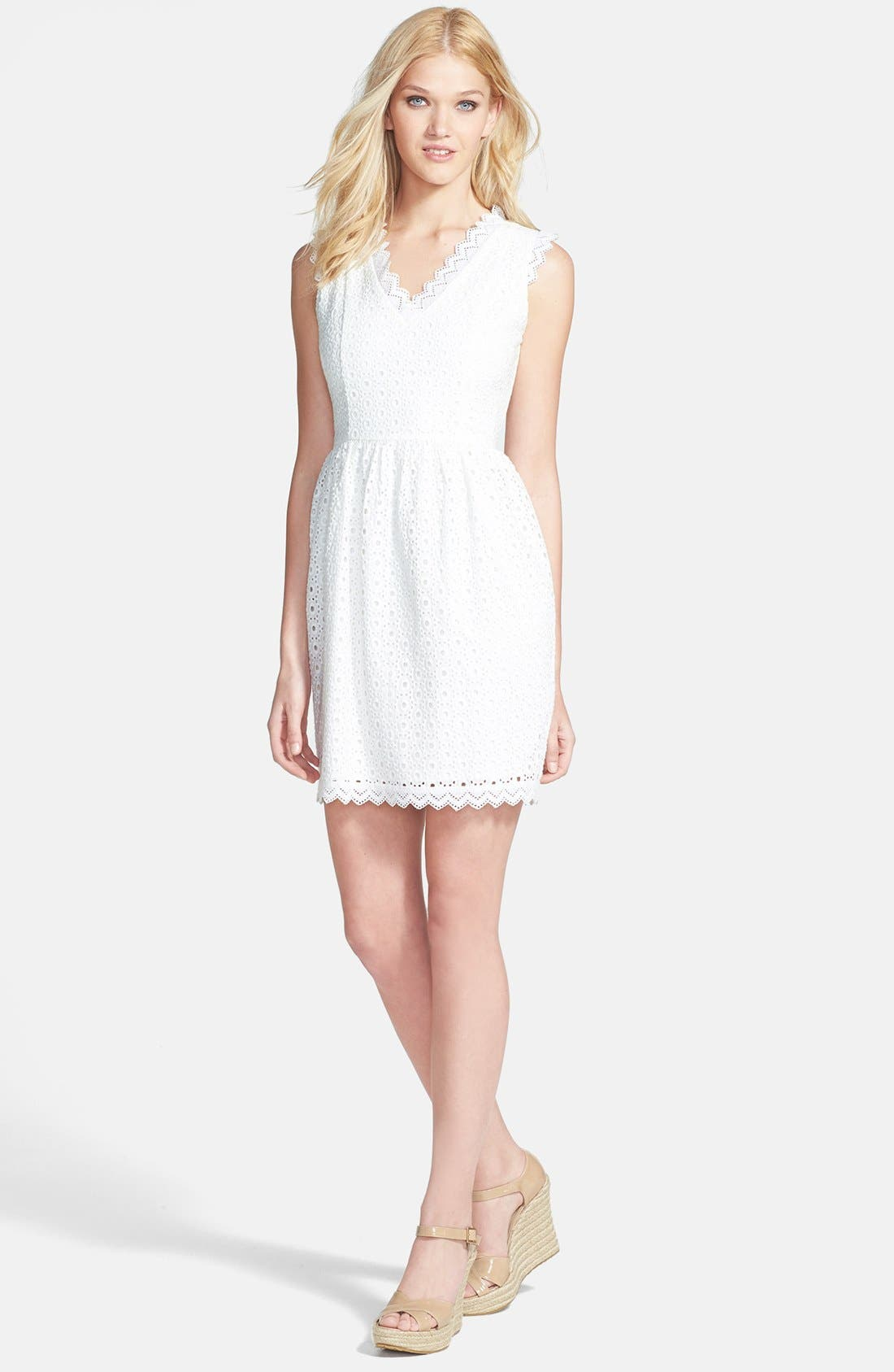 Alternate Image 3  - MM Couture Eyelet Cotton Fit & Flare Dress