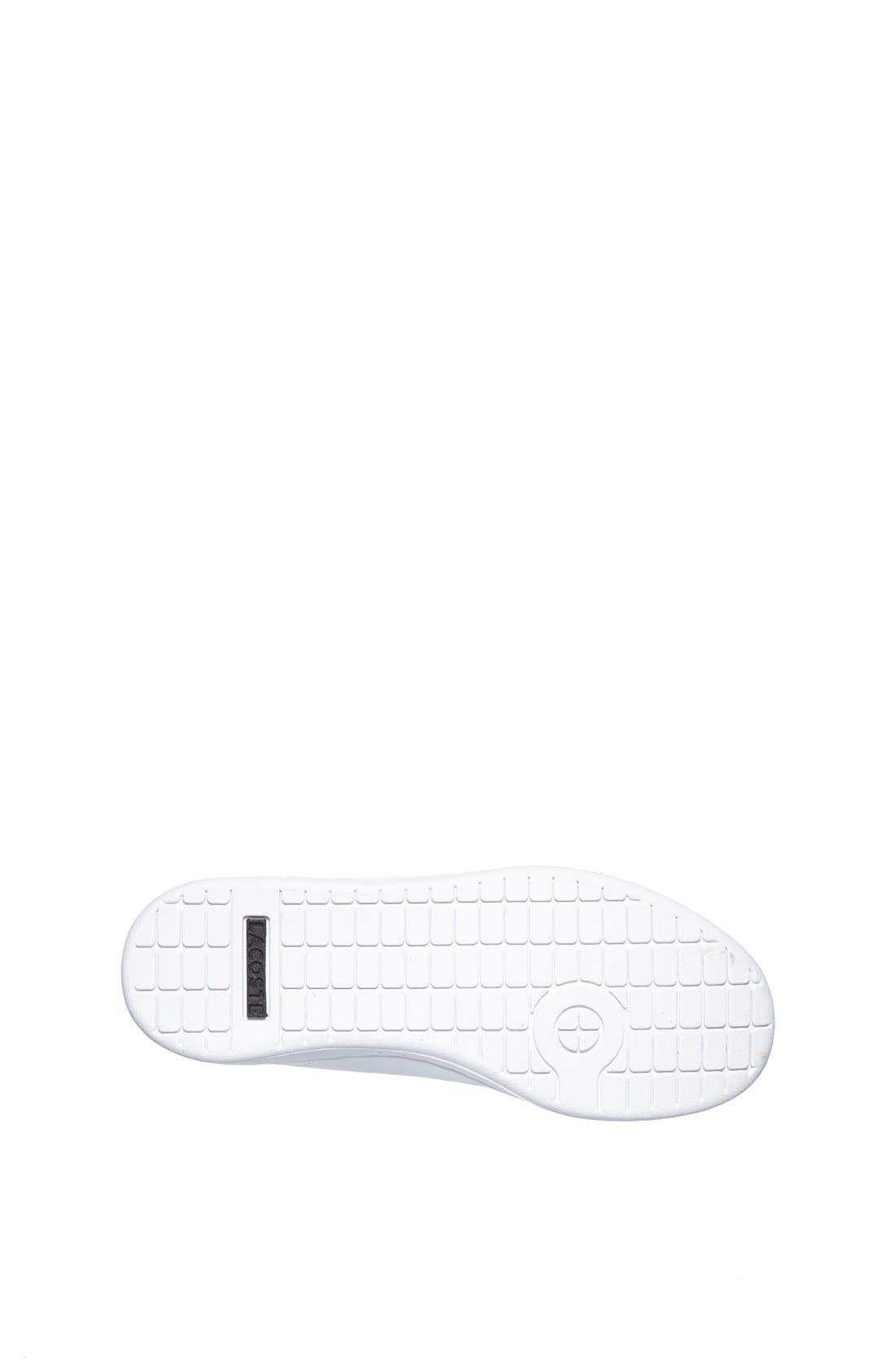Alternate Image 4  - Lacoste 'Carnaby' Sneaker (Baby, Walker, Toddler, Little Kid & Big Kid)