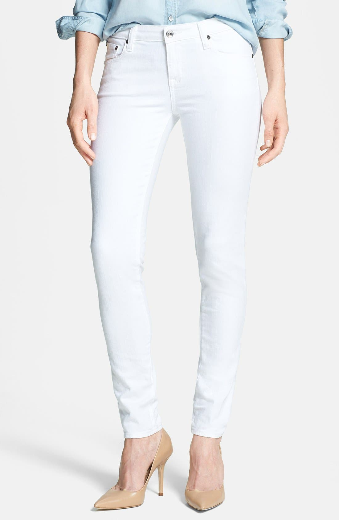 Main Image - Big Star 'Alex' Stretch Skinny Jeans (White)