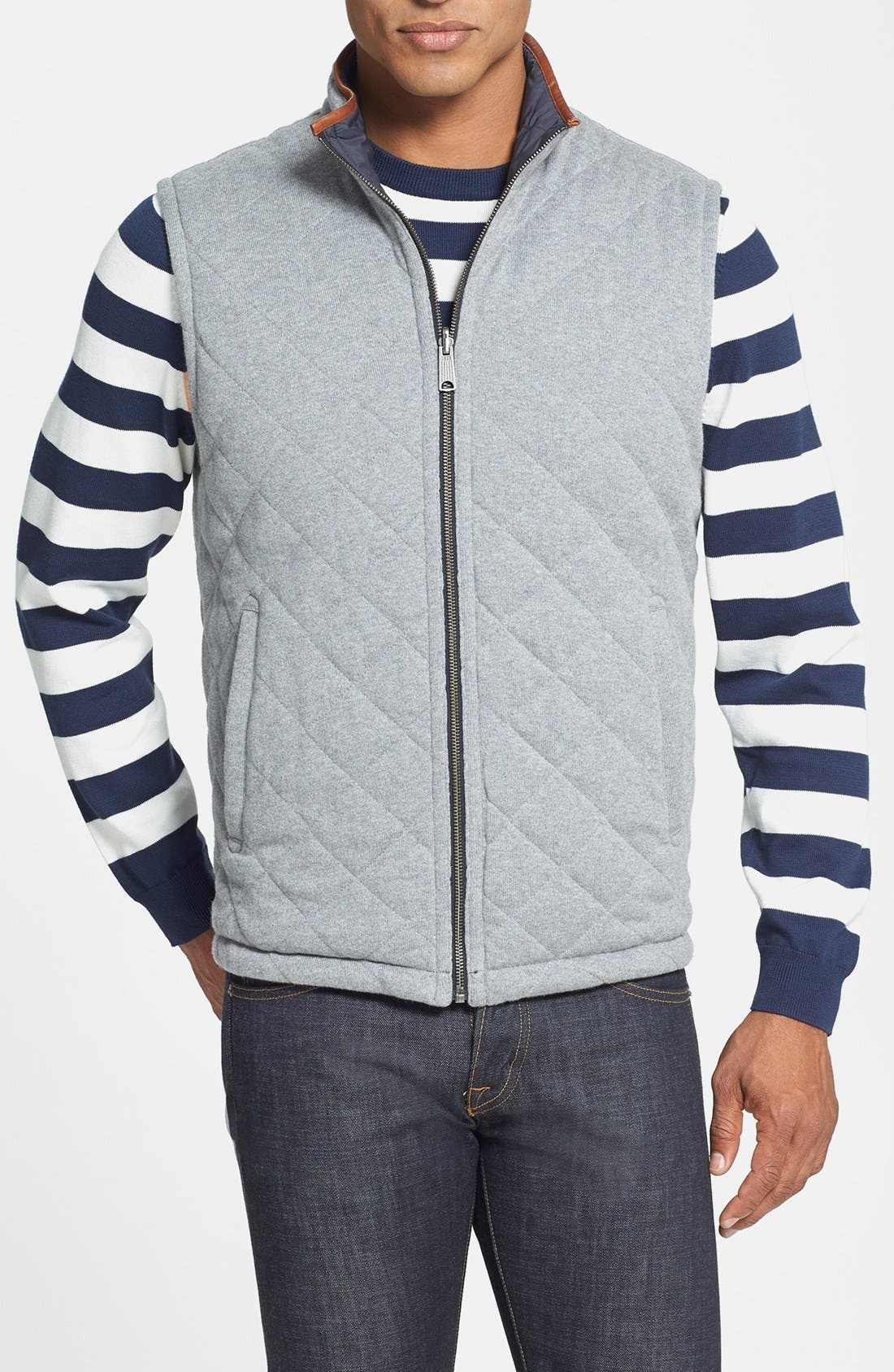 Alternate Image 2  - Brooks Brothers Reversible Quilted Vest