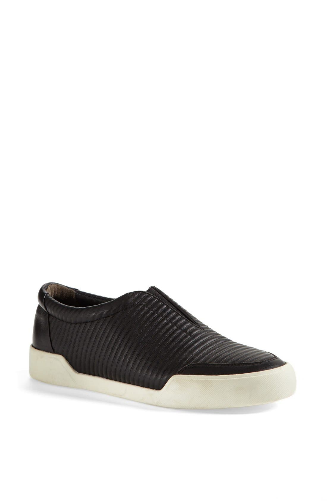 'Morgan' Slip-On Sneaker,                             Main thumbnail 1, color,                             Black