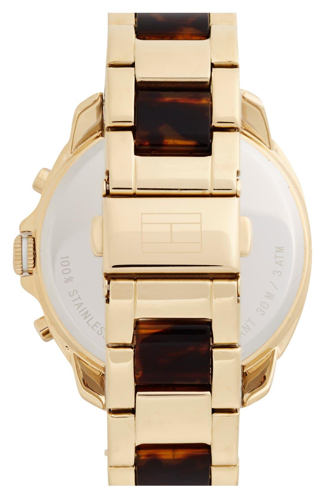 Alternate Image 2  - Tommy Hilfiger 'Sport Lux' Multifunction Bracelet Watch, 42mm