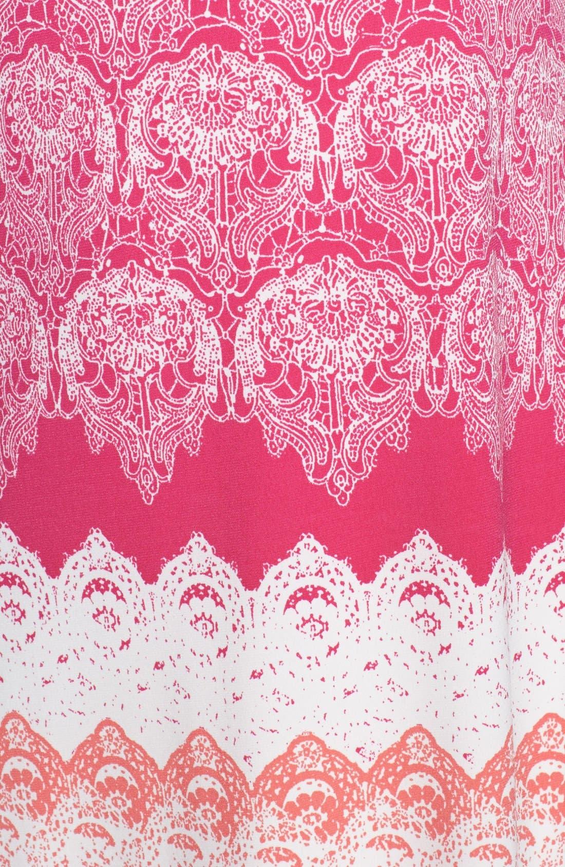 Alternate Image 3  - Donna Morgan Lace Print Shift Dress