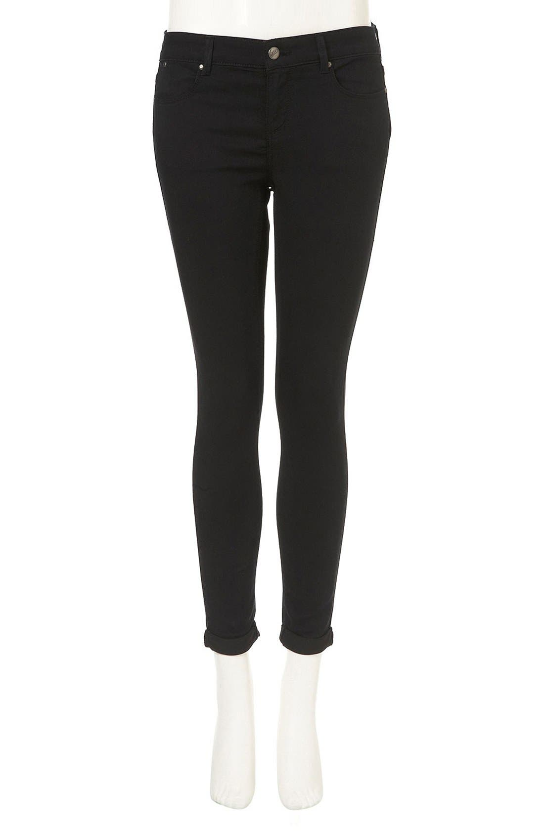 Alternate Image 3  - Topshop Moto 'Leigh' Skinny Jeans (Petite)