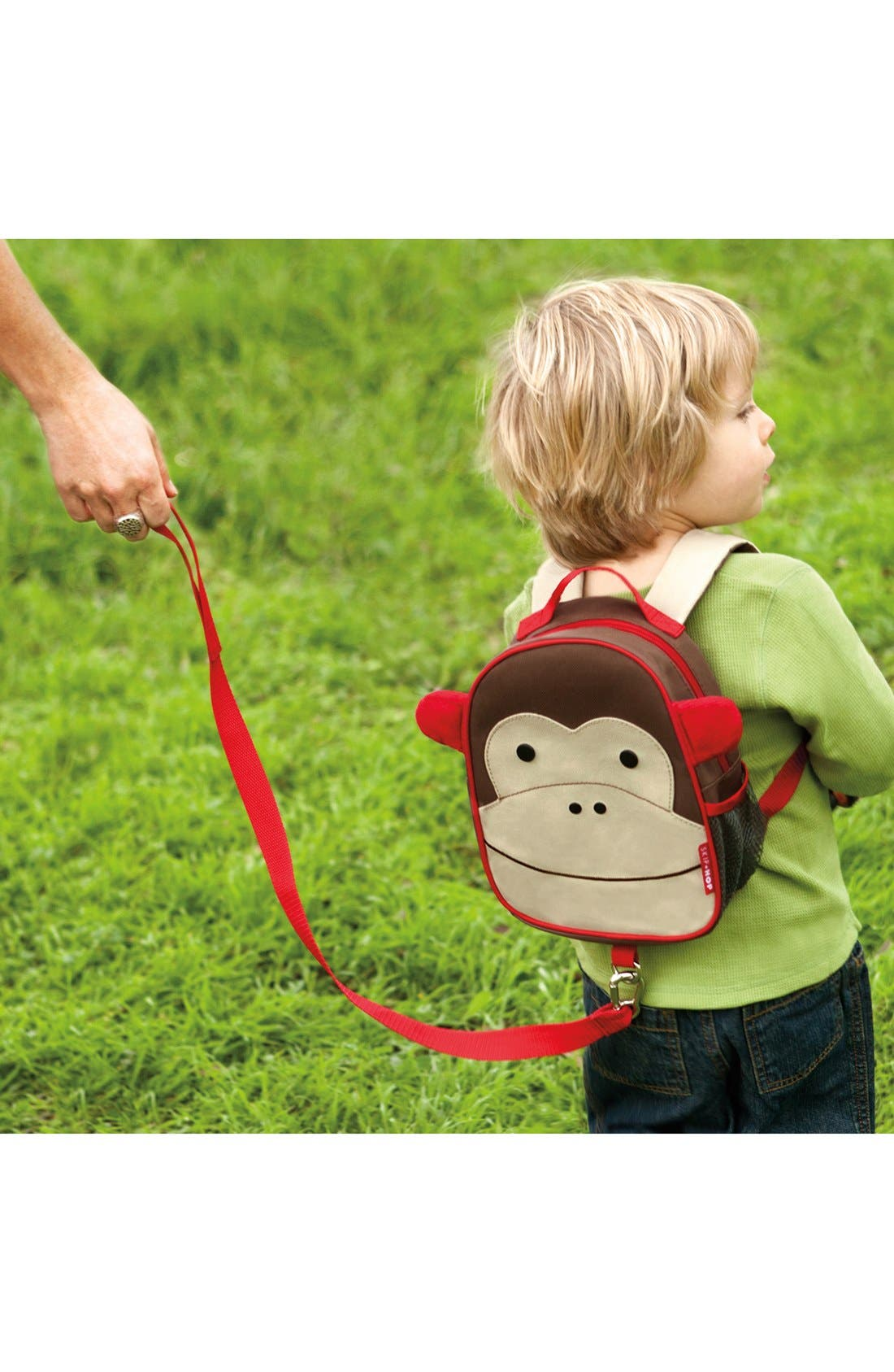 'Zoo' Safety Harness Backpack,                             Alternate thumbnail 4, color,                             Brown