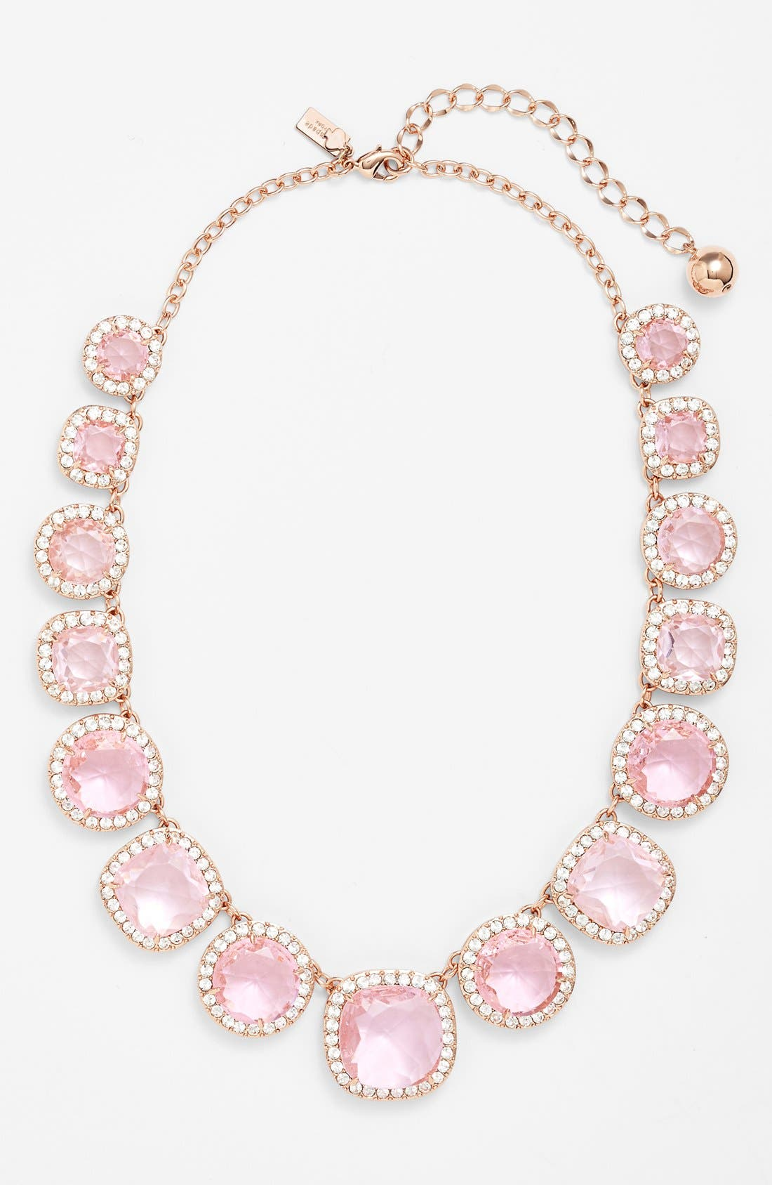 Main Image - kate spade new york 'basket pavé' graduated collar necklace