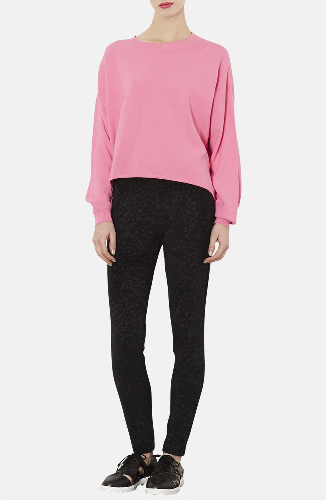 Alternate Image 4  - Topshop High/Low Knit Sweater