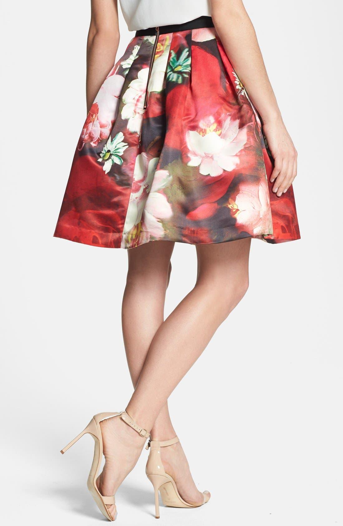 Alternate Image 2  - Ted Baker London 'Monny - Rose on Canvas' Full Skirt
