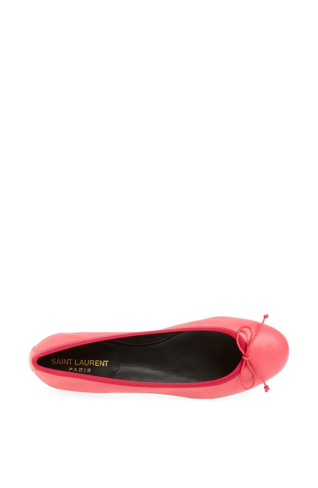 Alternate Image 4  - Saint Laurent 'Dance' Leather Ballet Flat