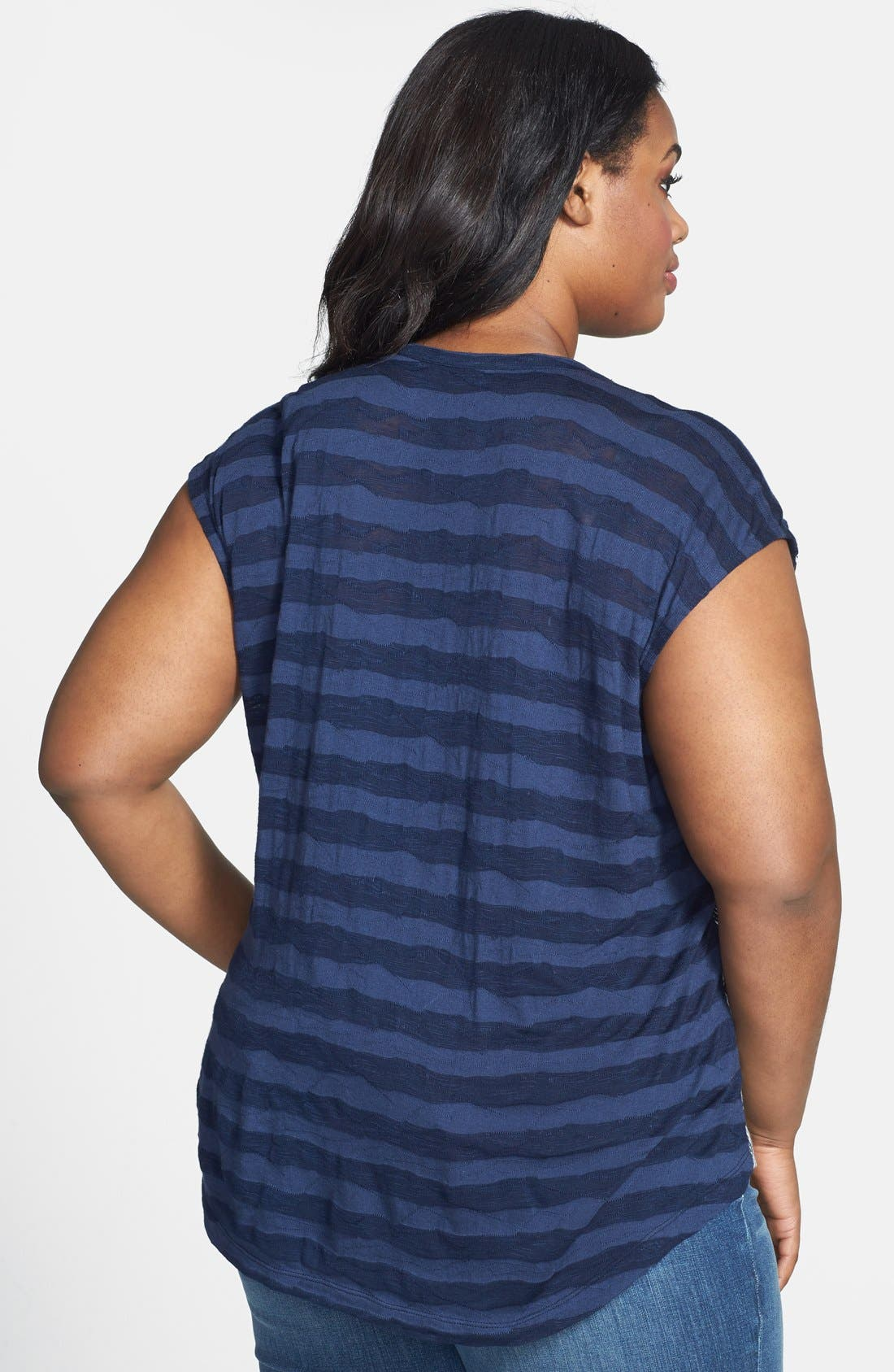 Alternate Image 2  - Lucky Brand Chevron Print Top (Plus Size)