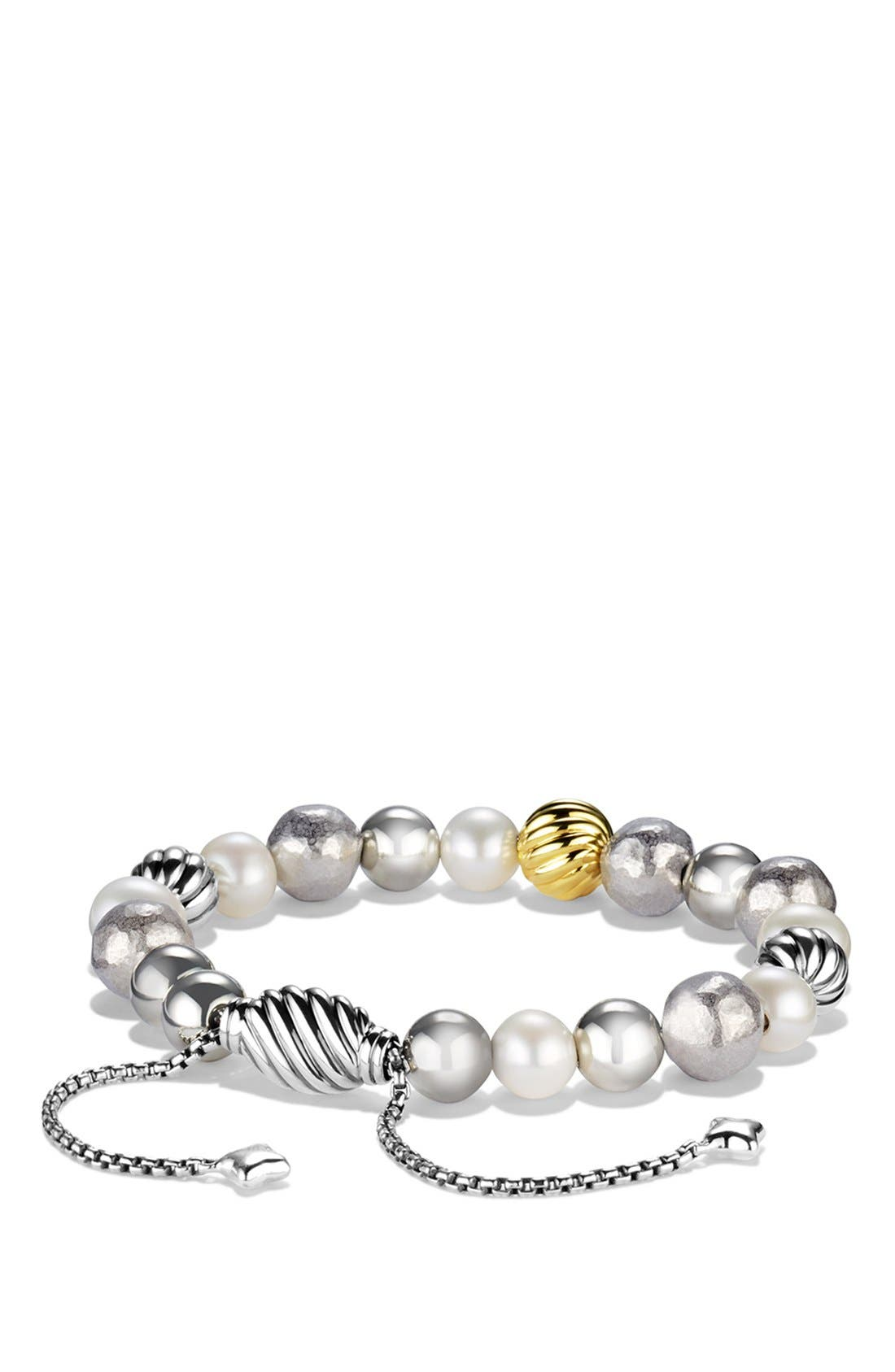 'DY Elements' Bracelet with Gold,                             Main thumbnail 1, color,                             Pearl