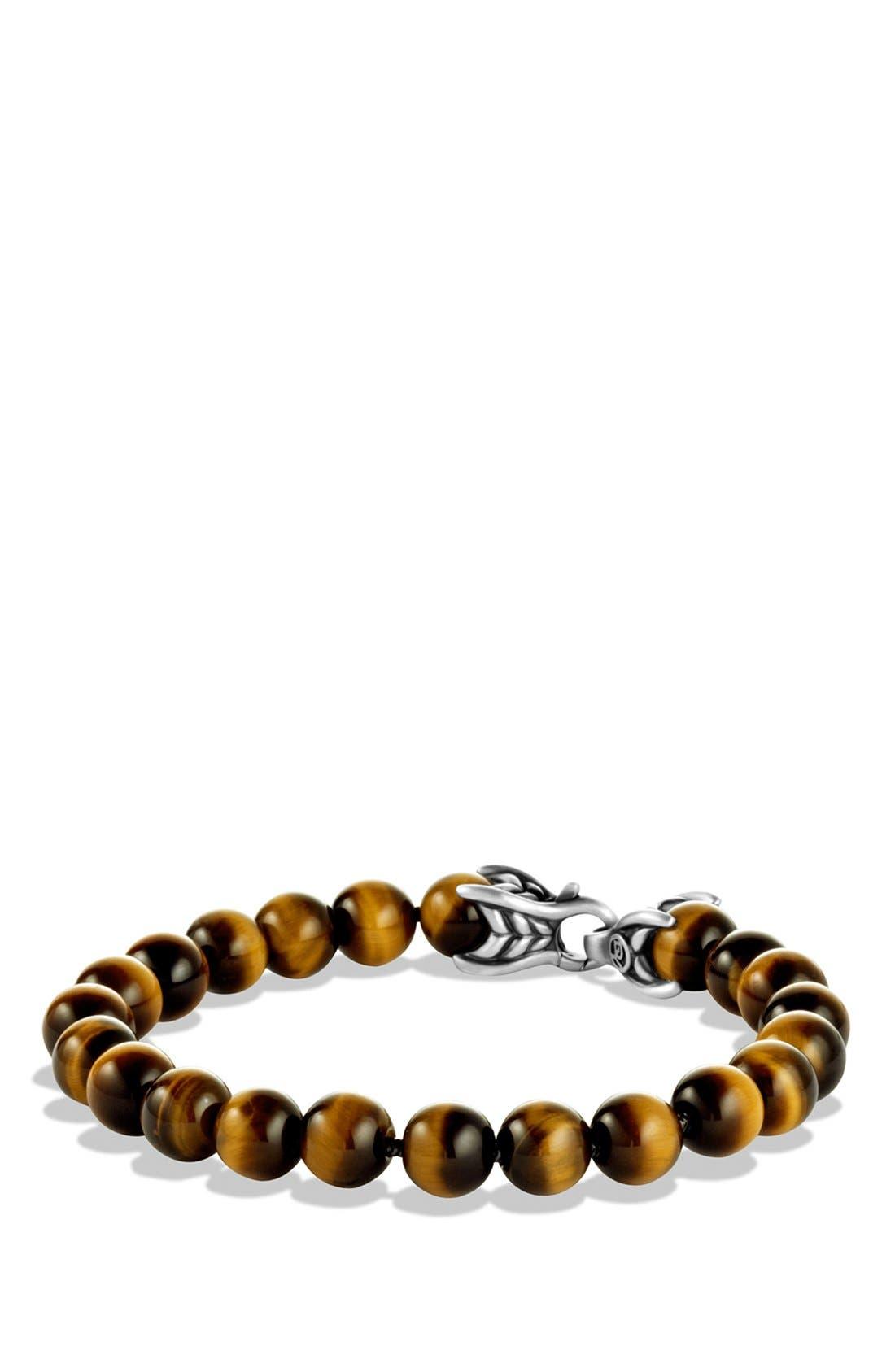 'Spiritual Beads' Bracelet,                             Main thumbnail 1, color,                             Tiger Eye